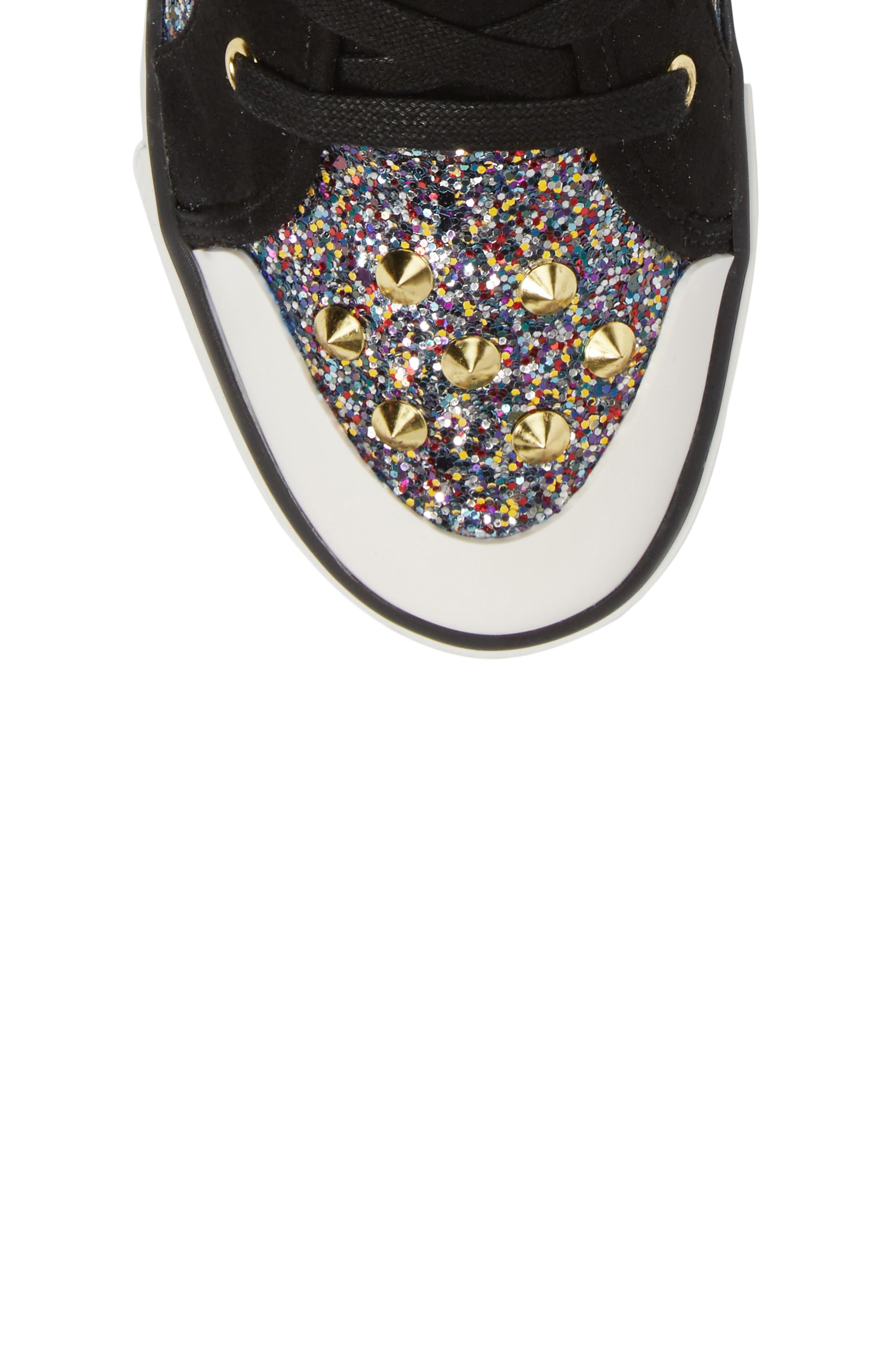 Lita Roe Glittery High Top Sneaker,                             Alternate thumbnail 5, color,                             003