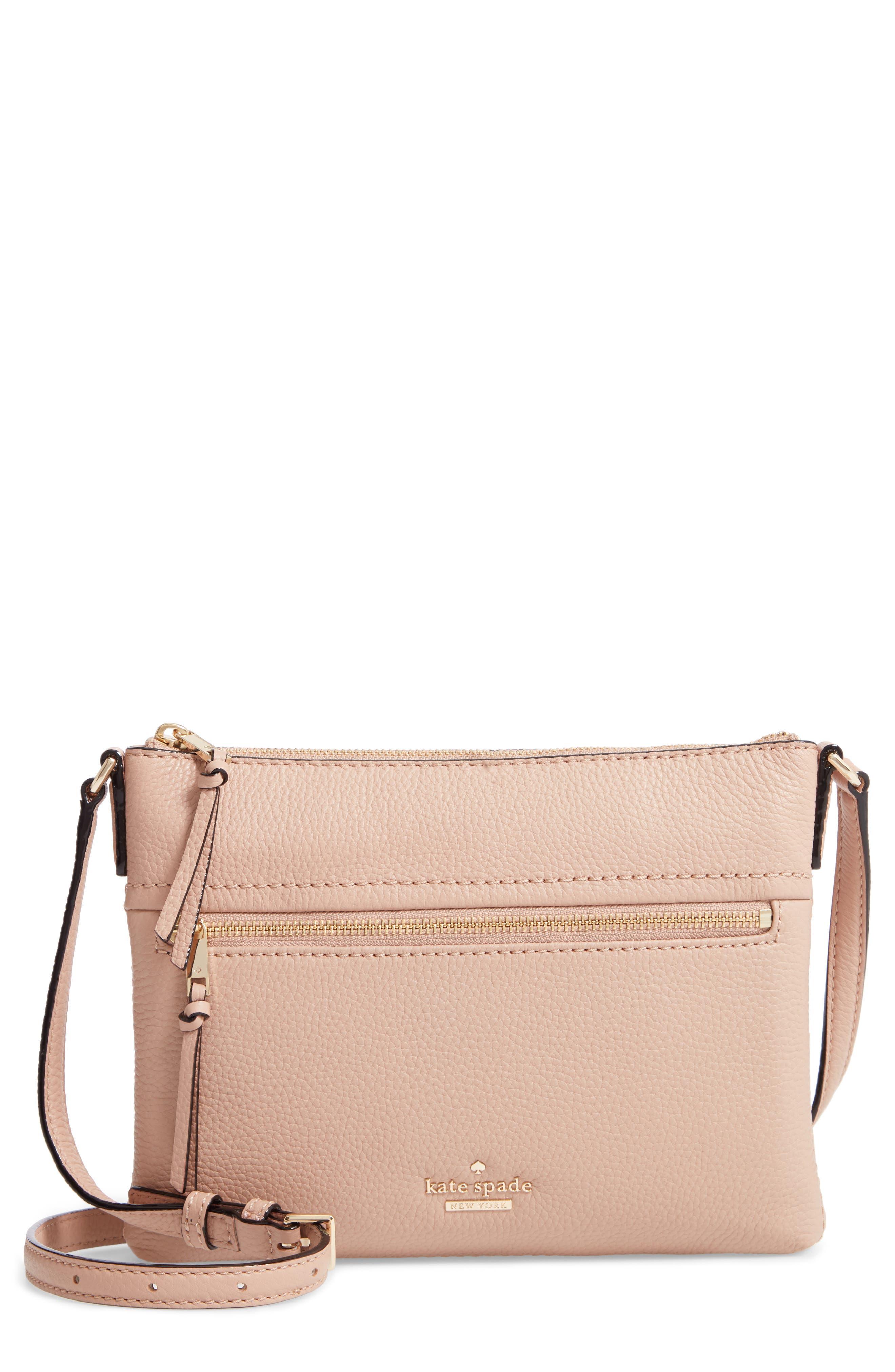 jackson street - gabriele leather crossbody bag,                             Main thumbnail 1, color,                             GINGER TEA