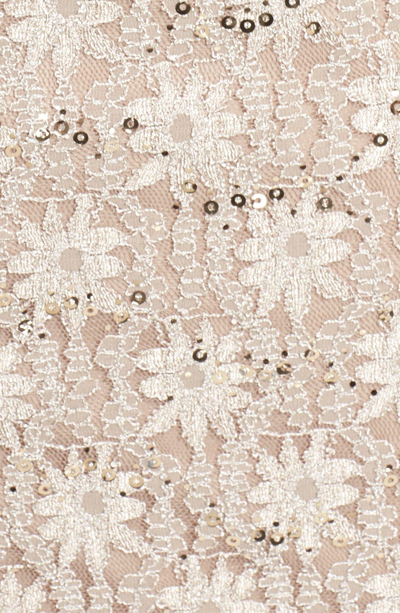 Embellished Illusion Lace Shift Dress,                             Alternate thumbnail 6, color,                             250