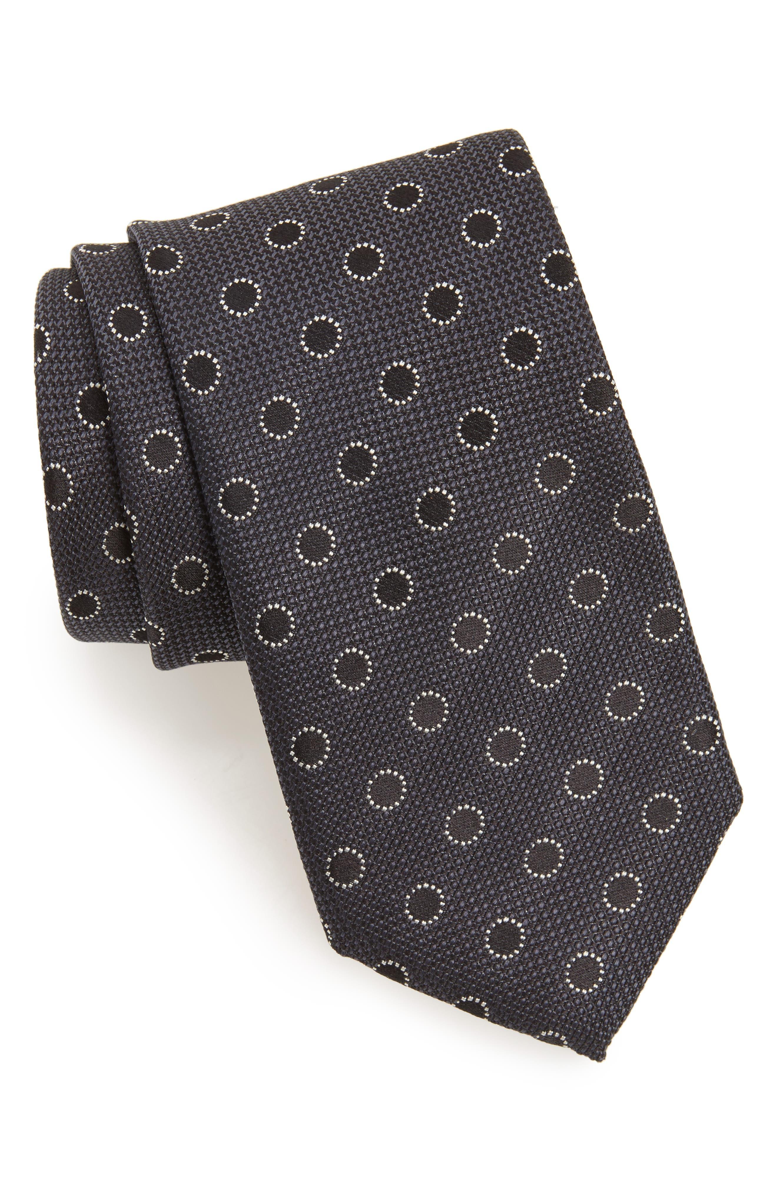 Dot Silk Tie,                         Main,                         color, 201