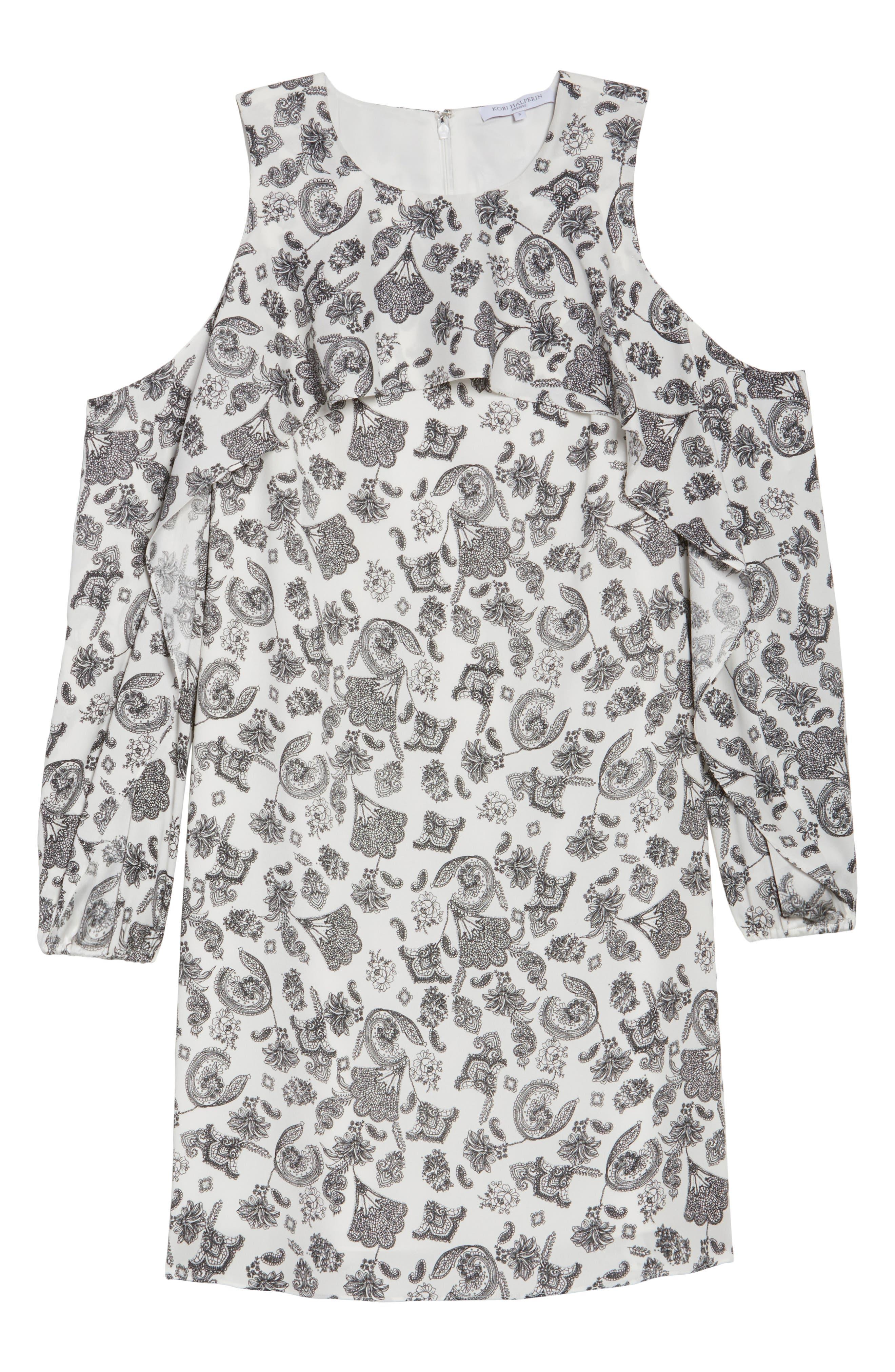 Amber Cold Shoulder Shift Dress,                             Alternate thumbnail 6, color,