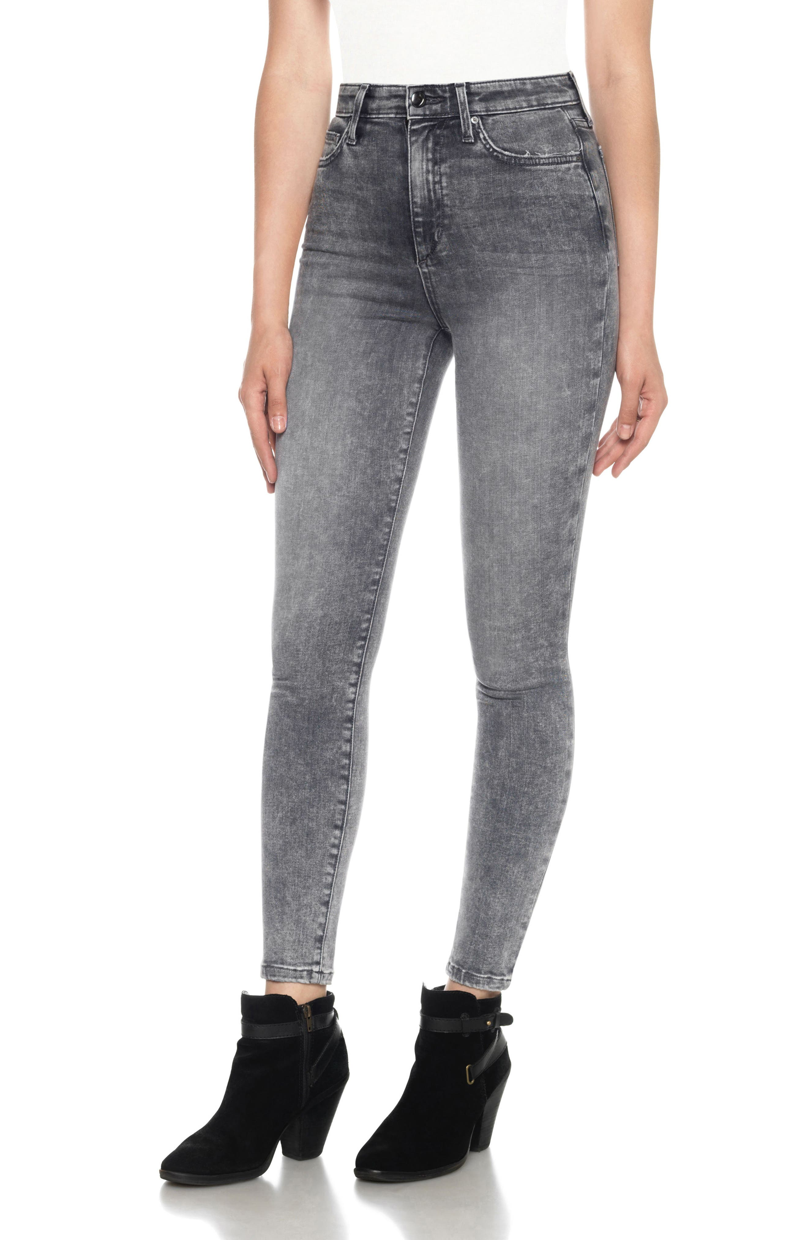 Flawless - Charlie High Waist Ankle Skinny Jeans,                             Main thumbnail 1, color,                             052