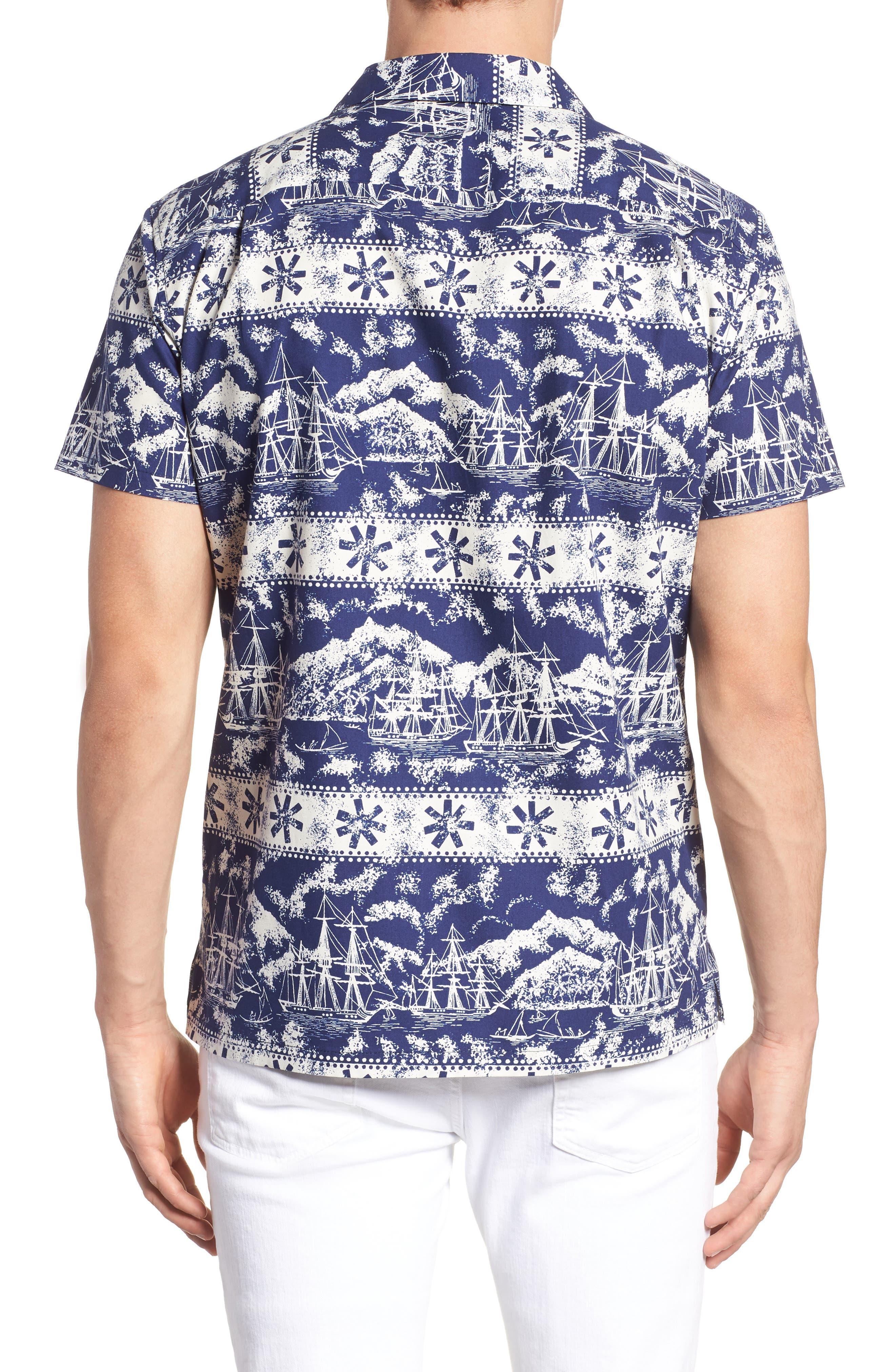 Safe Harbor Slim Fit Camp Shirt,                             Alternate thumbnail 2, color,                             415