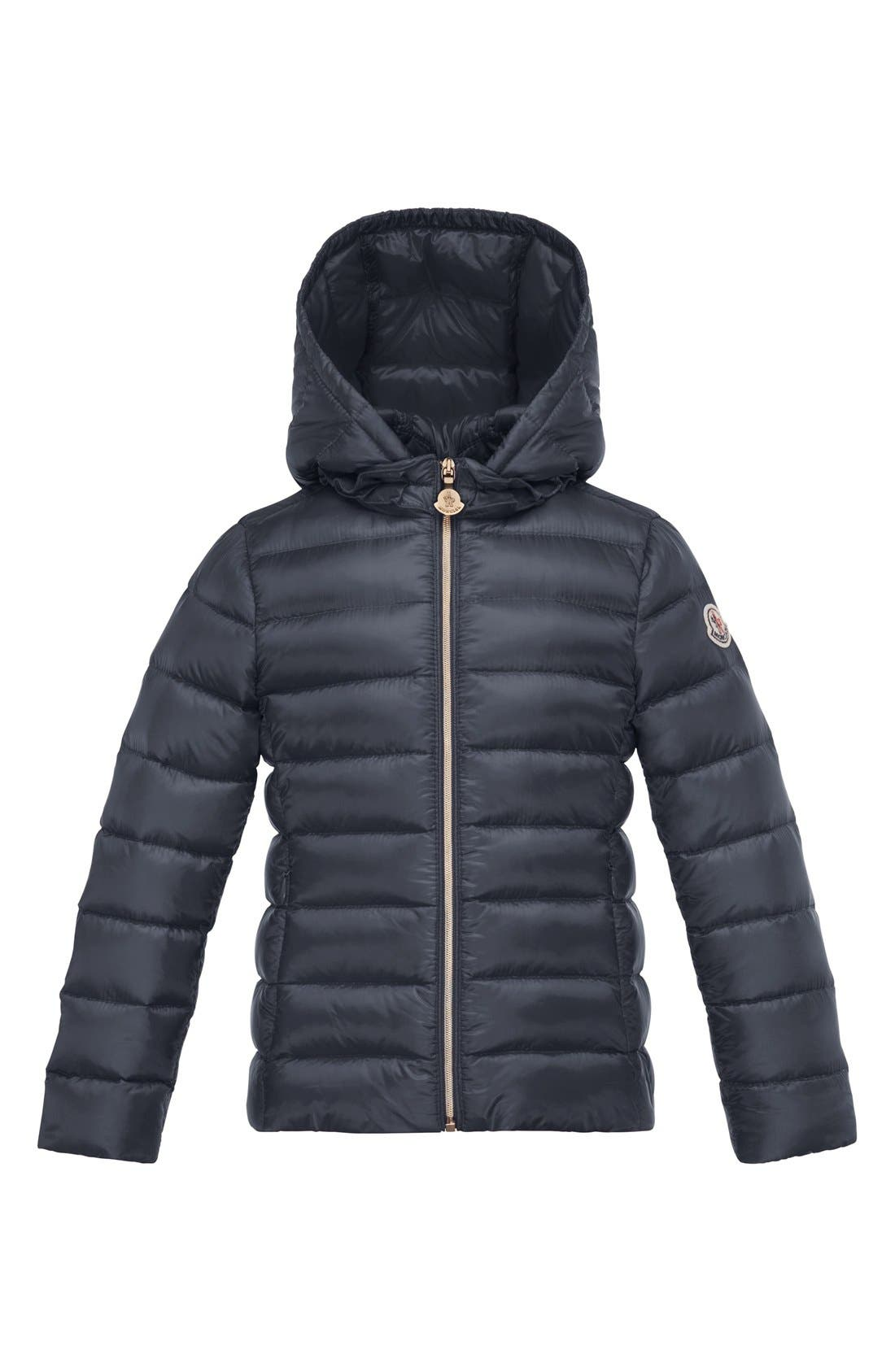 'Iraida' Water Resistant Hooded Down Puffer Jacket, Main, color, 419