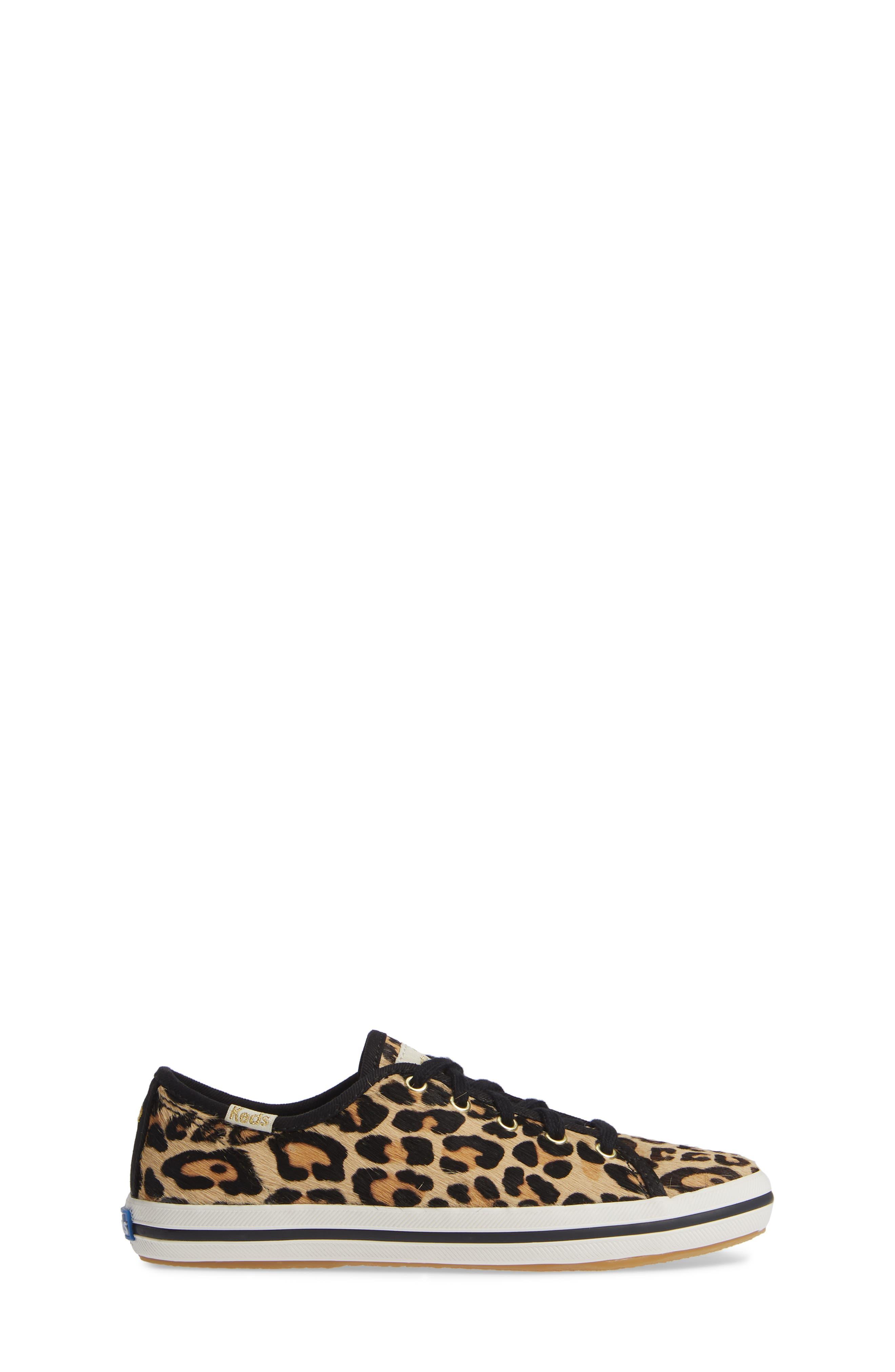 for kate spade new york kickstart genuine calf hair sneaker,                             Alternate thumbnail 3, color,                             PRINTED PONY