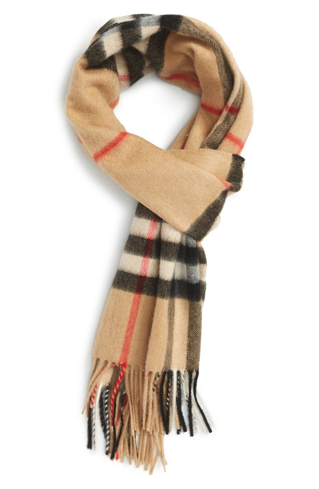 Heritage Check Cashmere Scarf,                         Main,                         color, CLASSIC CHECK