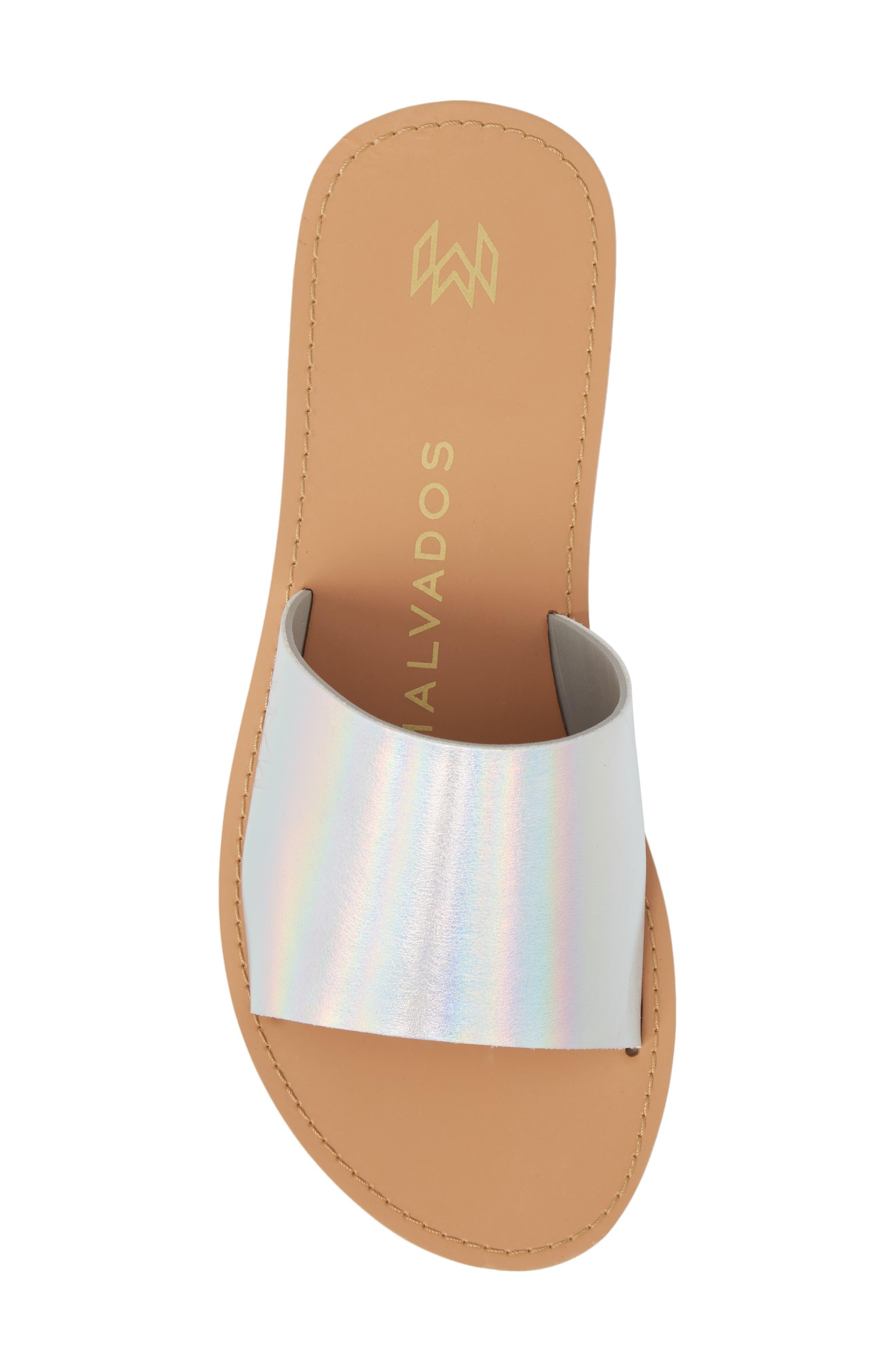 Icon Taylor Slide Sandal,                             Alternate thumbnail 5, color,                             PLATINUM