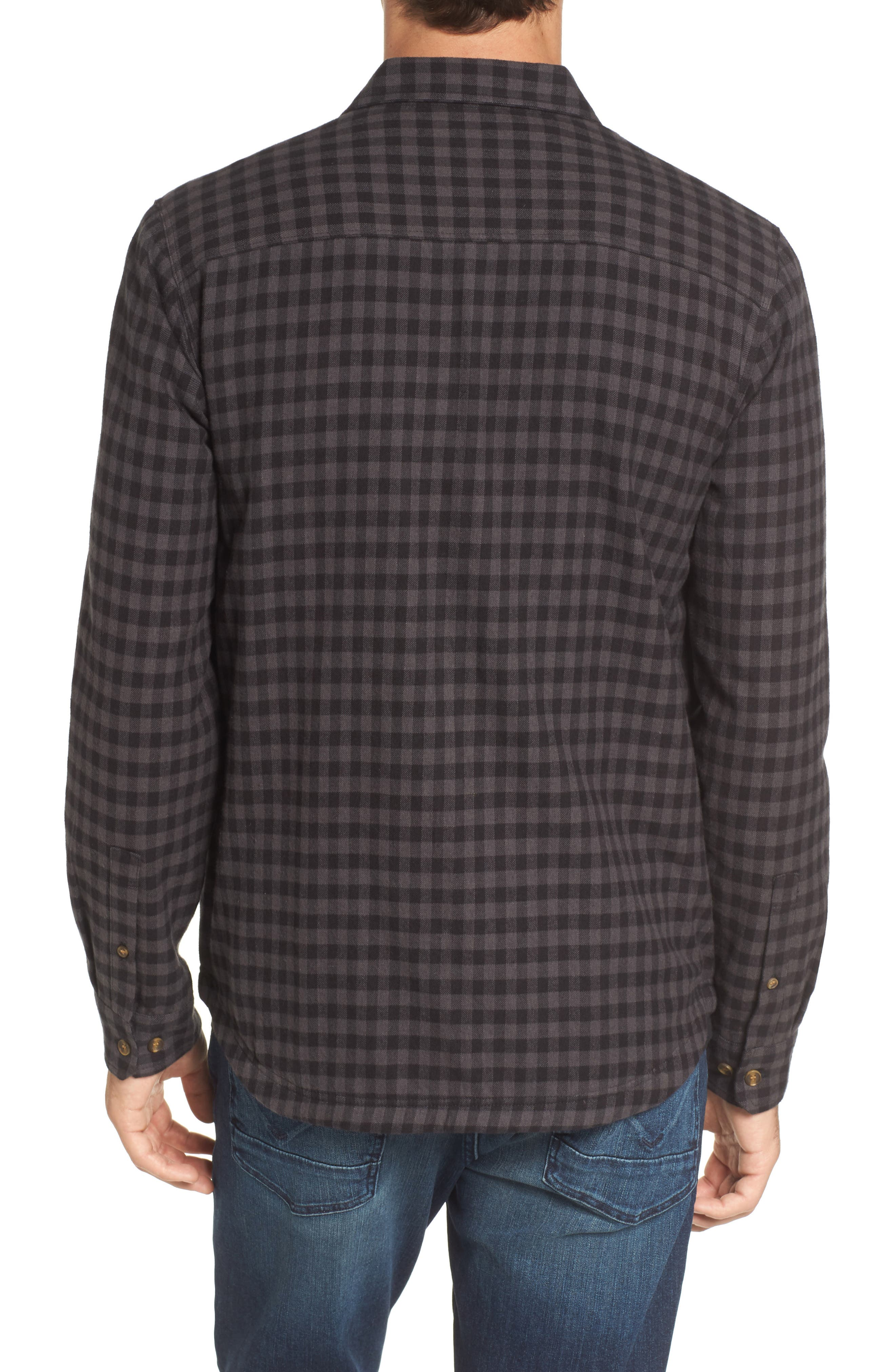 Gronk Lined Flannel Shirt,                             Alternate thumbnail 2, color,                             001