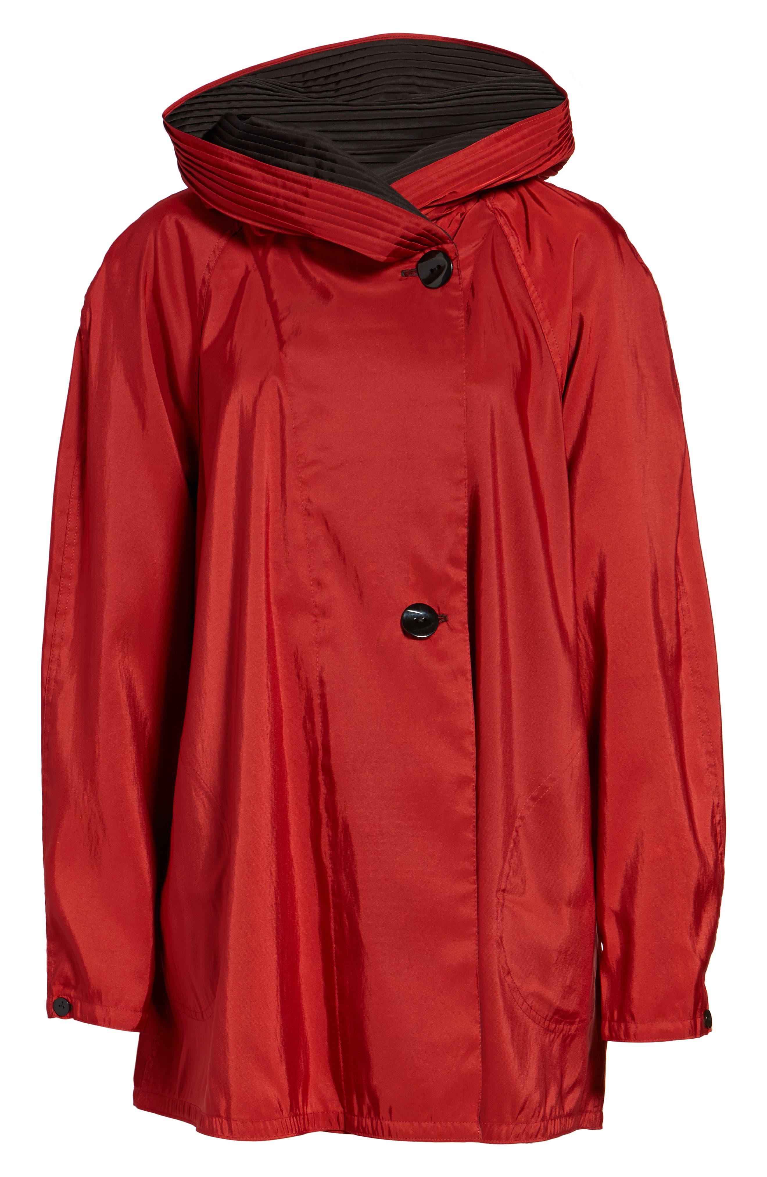 'Mini Donatella' Reversible Pleat Hood Packable Travel Coat,                             Alternate thumbnail 63, color,