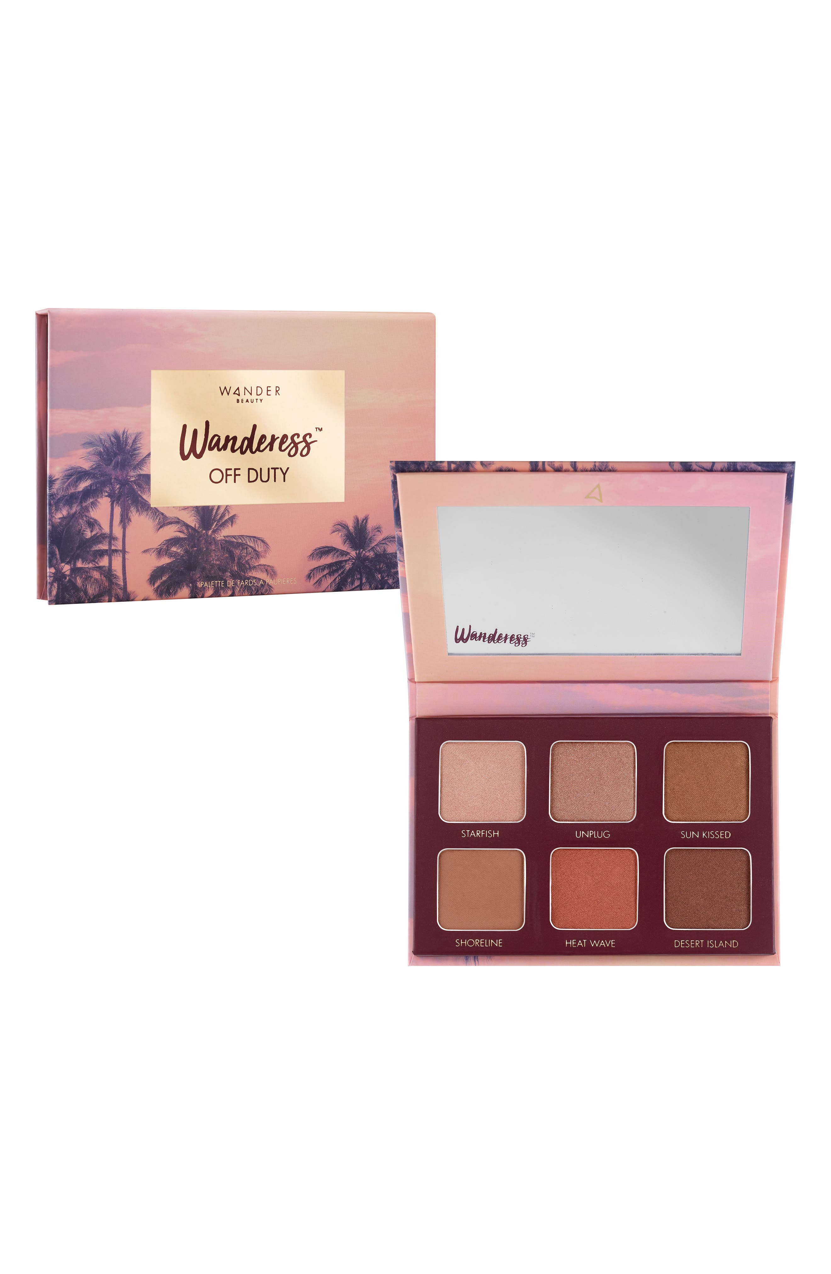 WANDER BEAUTY,                             Wanderess Off Duty Eyeshadow Palette,                             Main thumbnail 1, color,                             NO COLOR