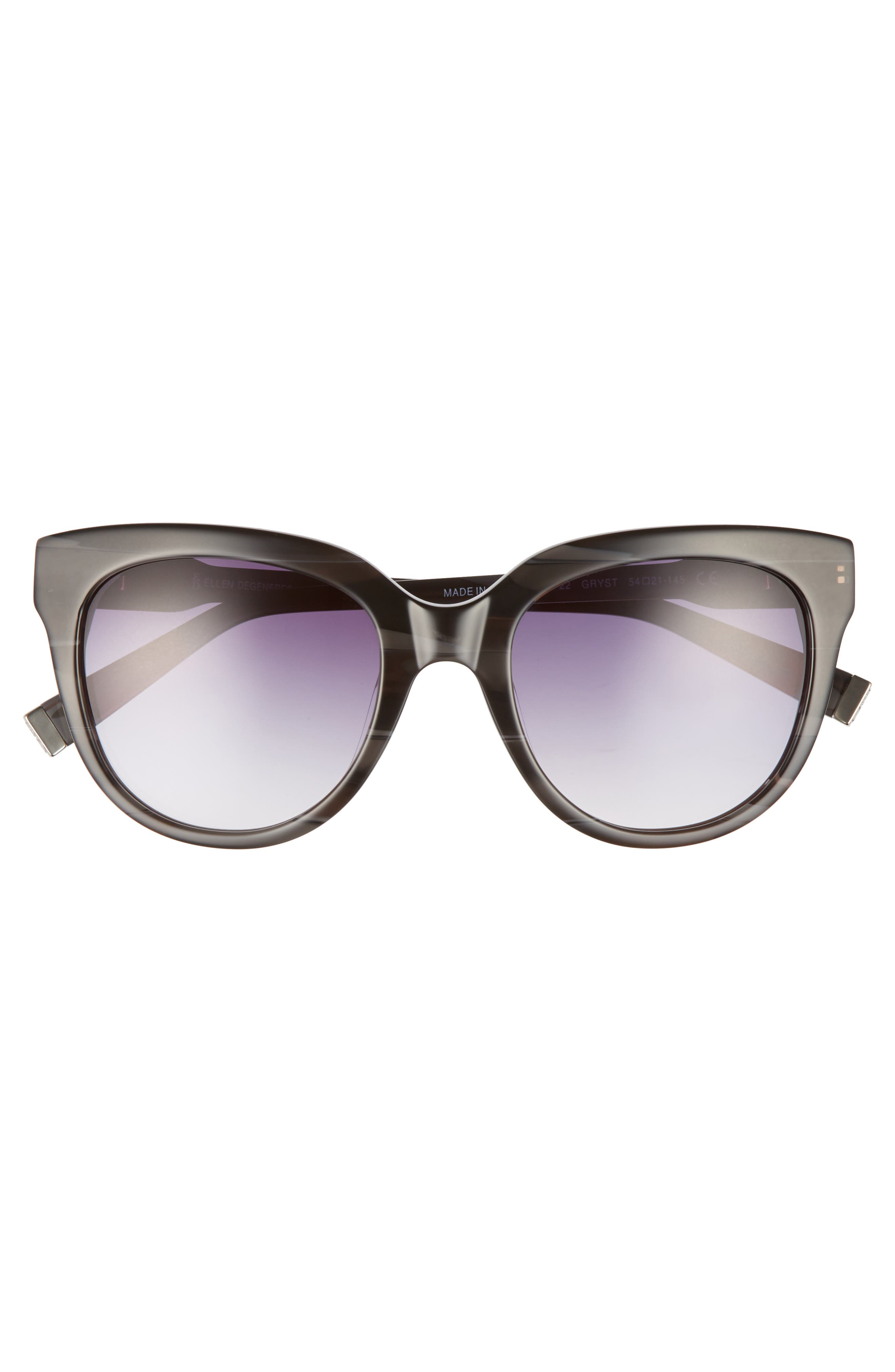 54mm Oval Sunglasses,                             Alternate thumbnail 3, color,                             GREY STRIPE