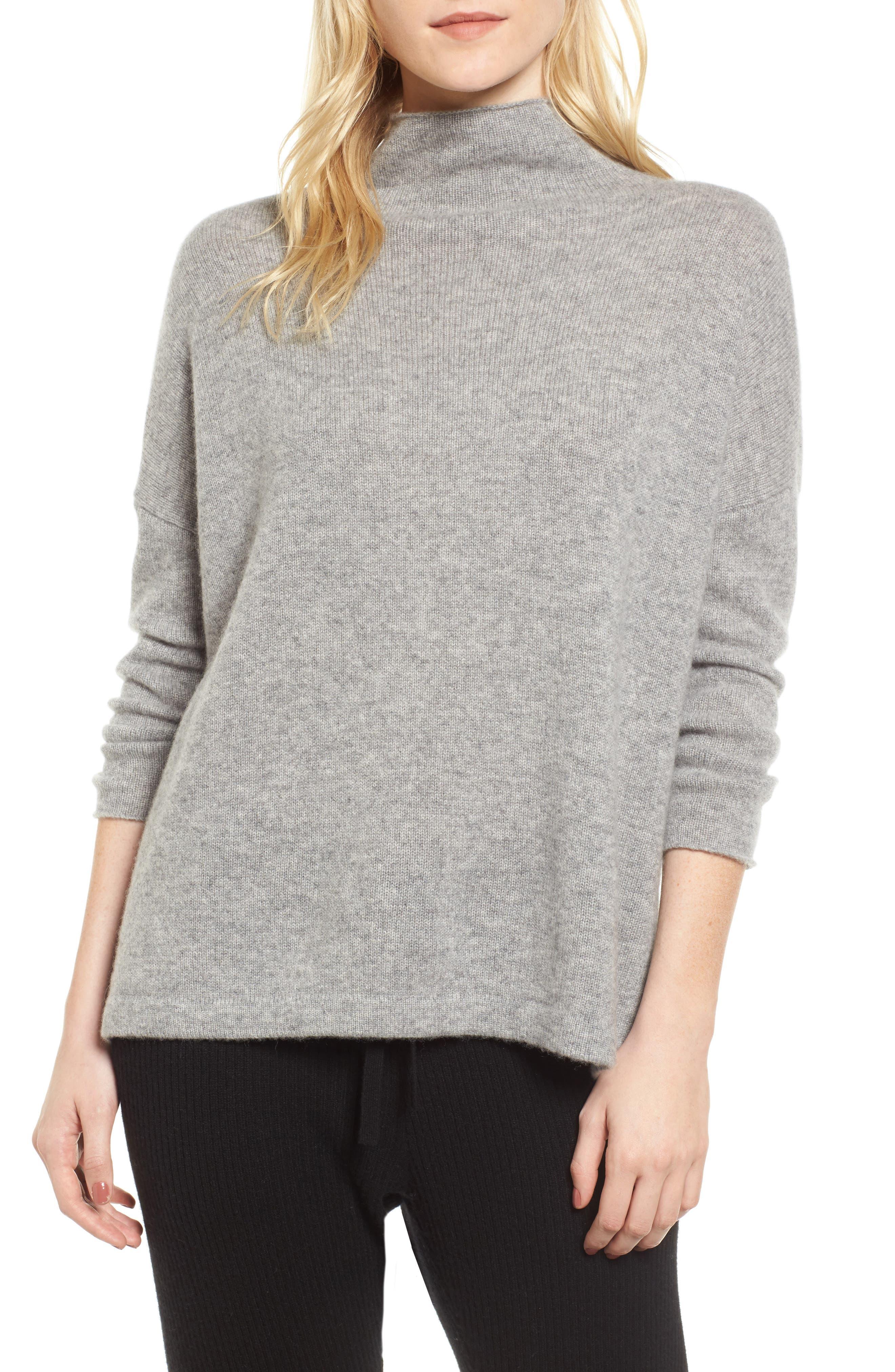 Mock Neck Cashmere Sweater,                         Main,                         color, 086