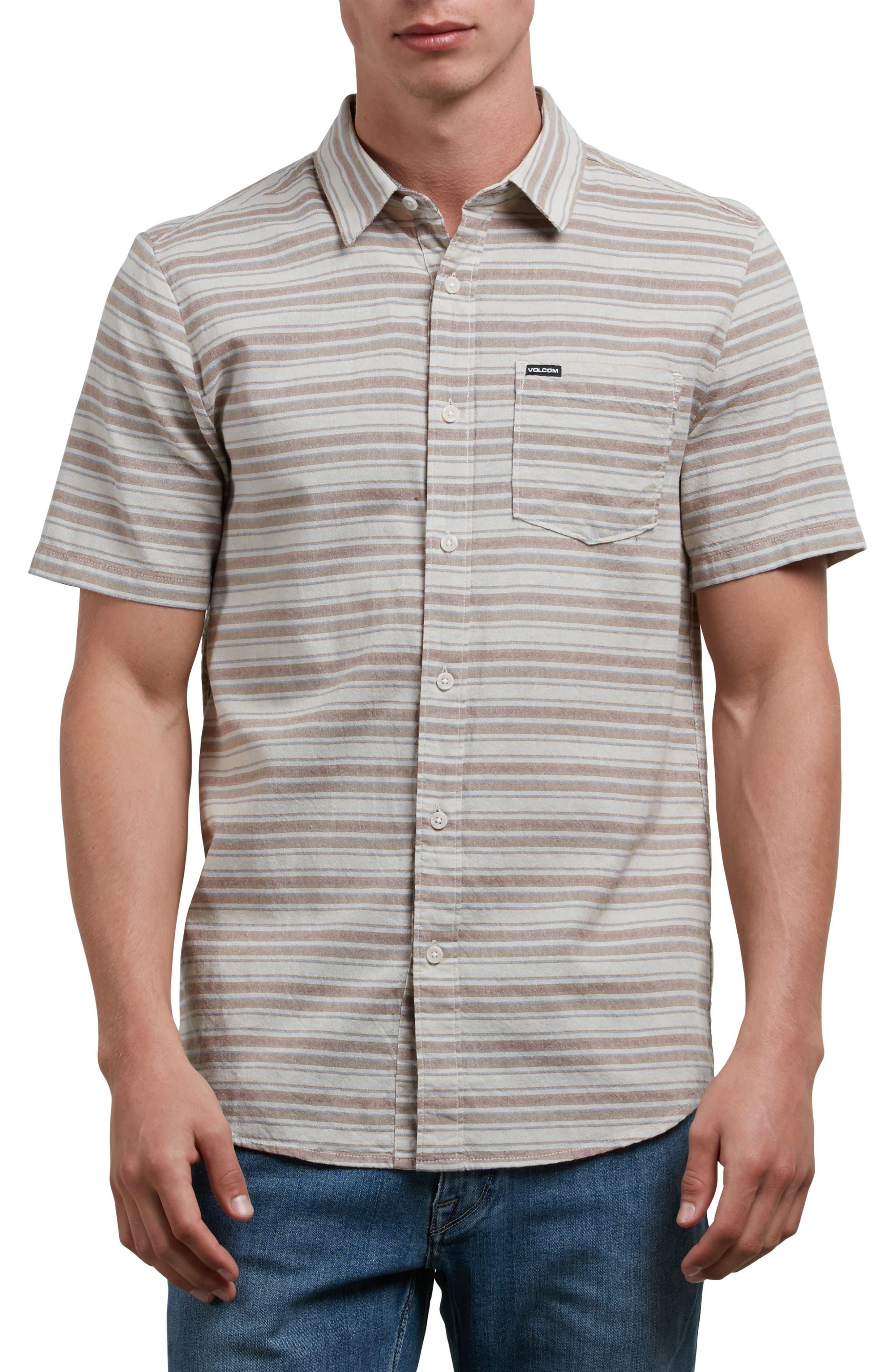 Sable Stripe Woven Shirt,                             Main thumbnail 1, color,                             283