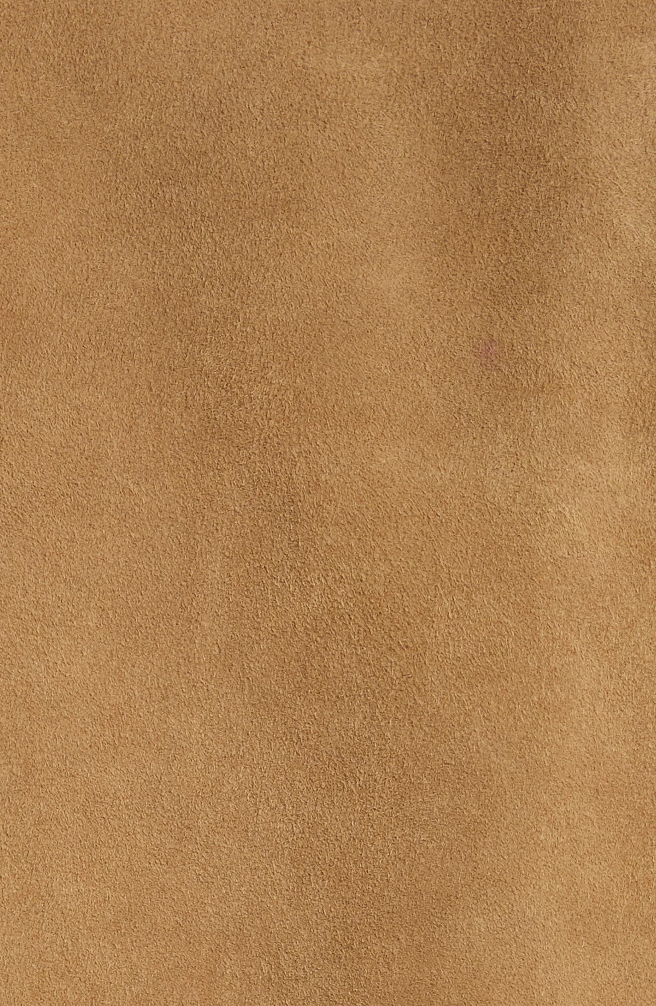 Suede Western Jacket,                             Alternate thumbnail 6, color,                             WALNUT