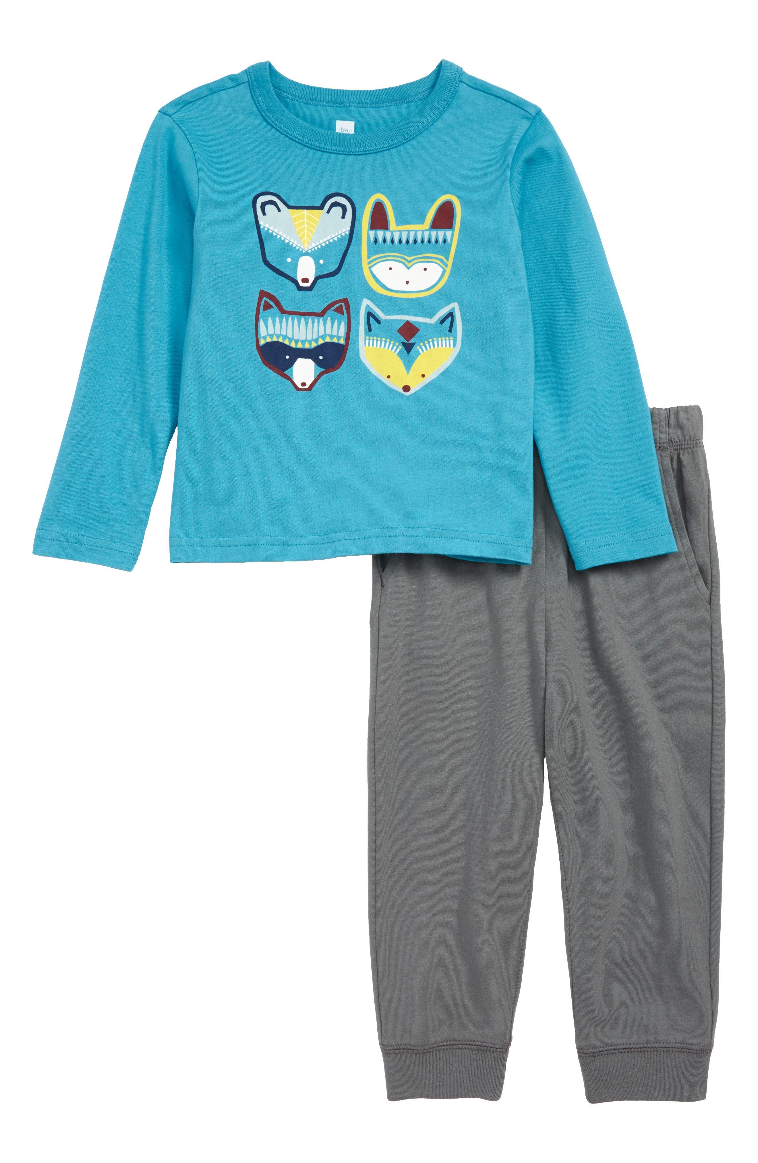Infant Boys Tea Collection Critters TShirt  Sweatpants Set