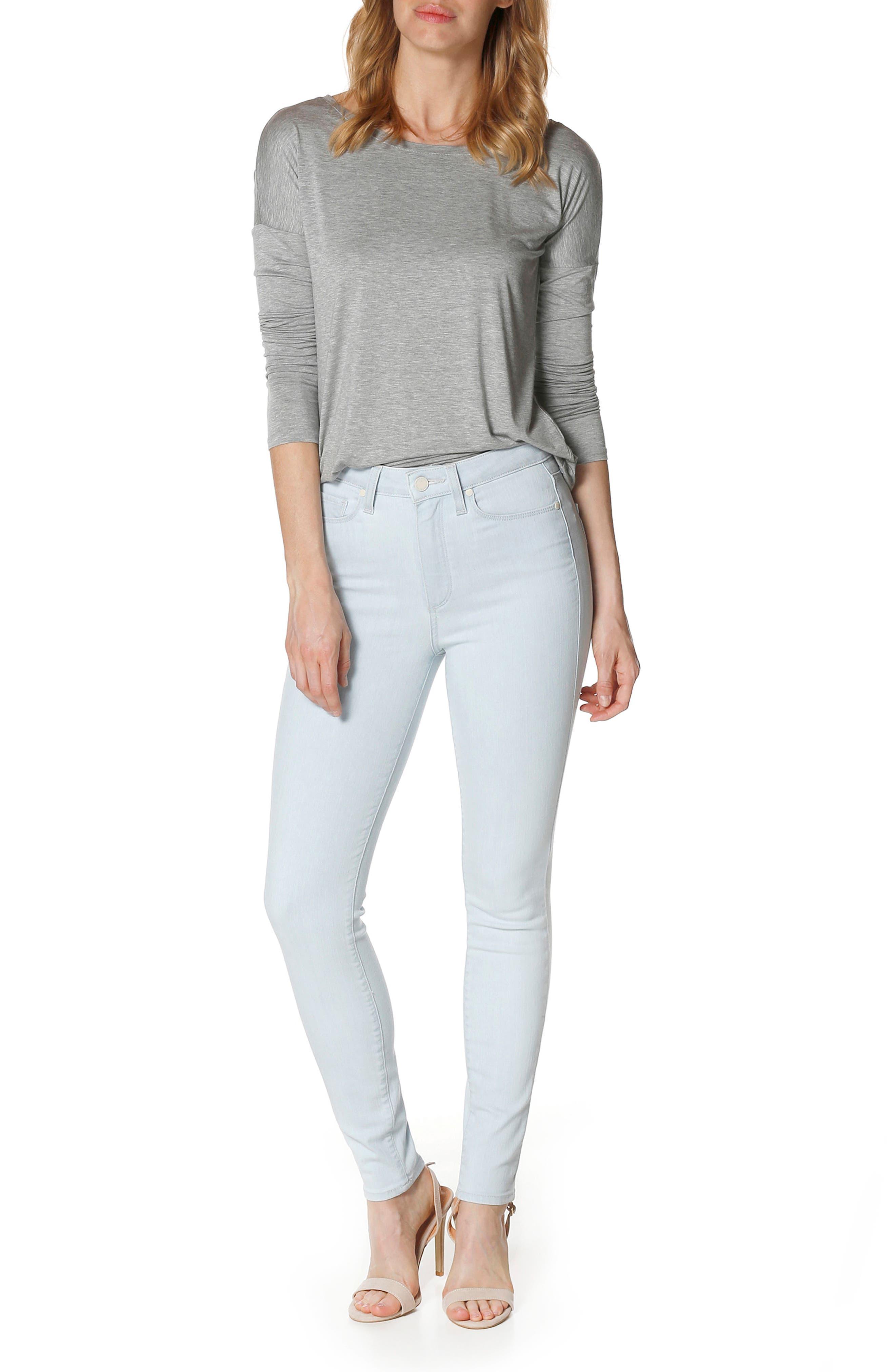 Margot High Waist Ultra Skinny Jeans,                             Alternate thumbnail 4, color,                             400