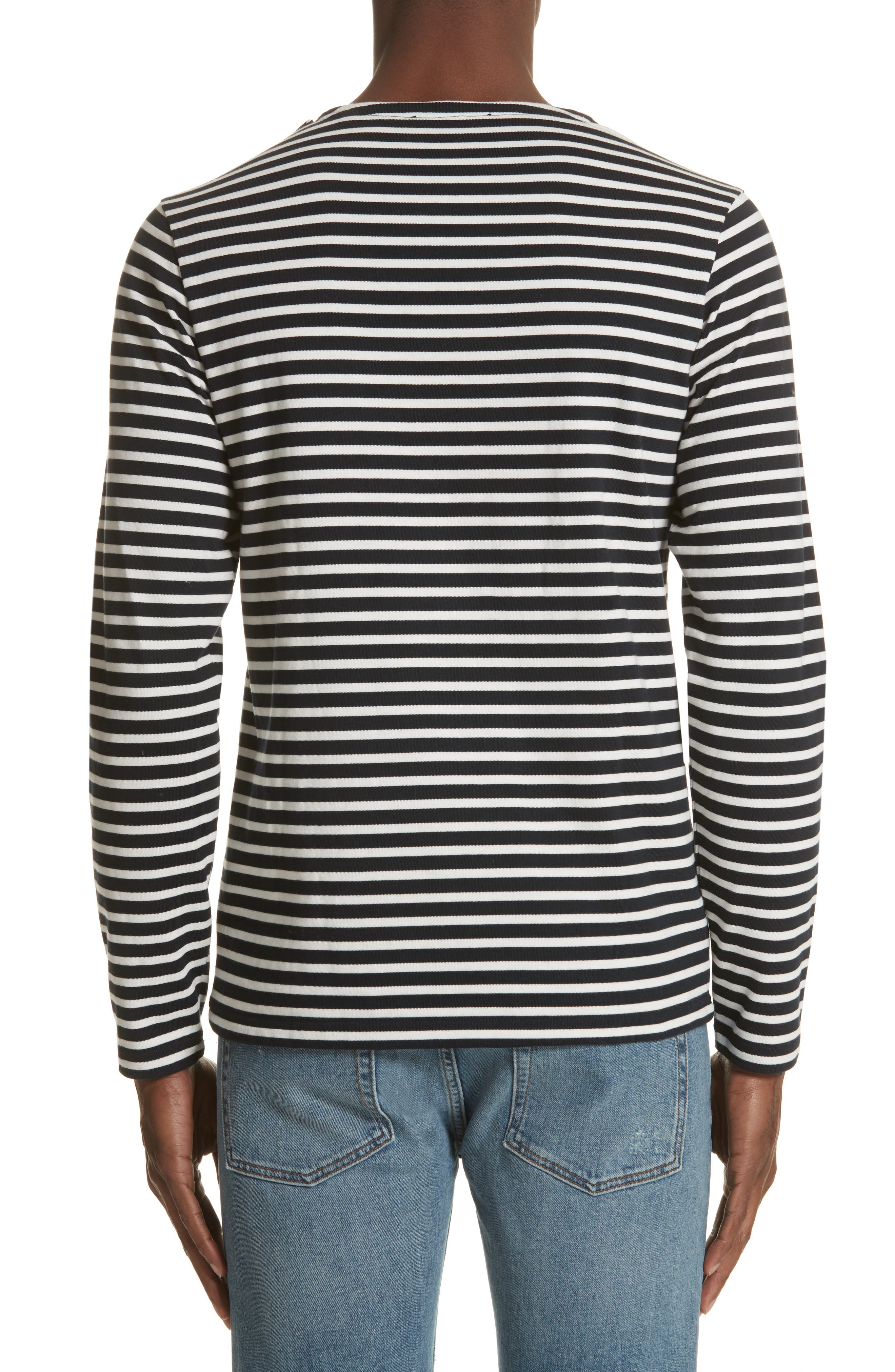 Stripe Long Sleeve T-Shirt,                             Alternate thumbnail 2, color,