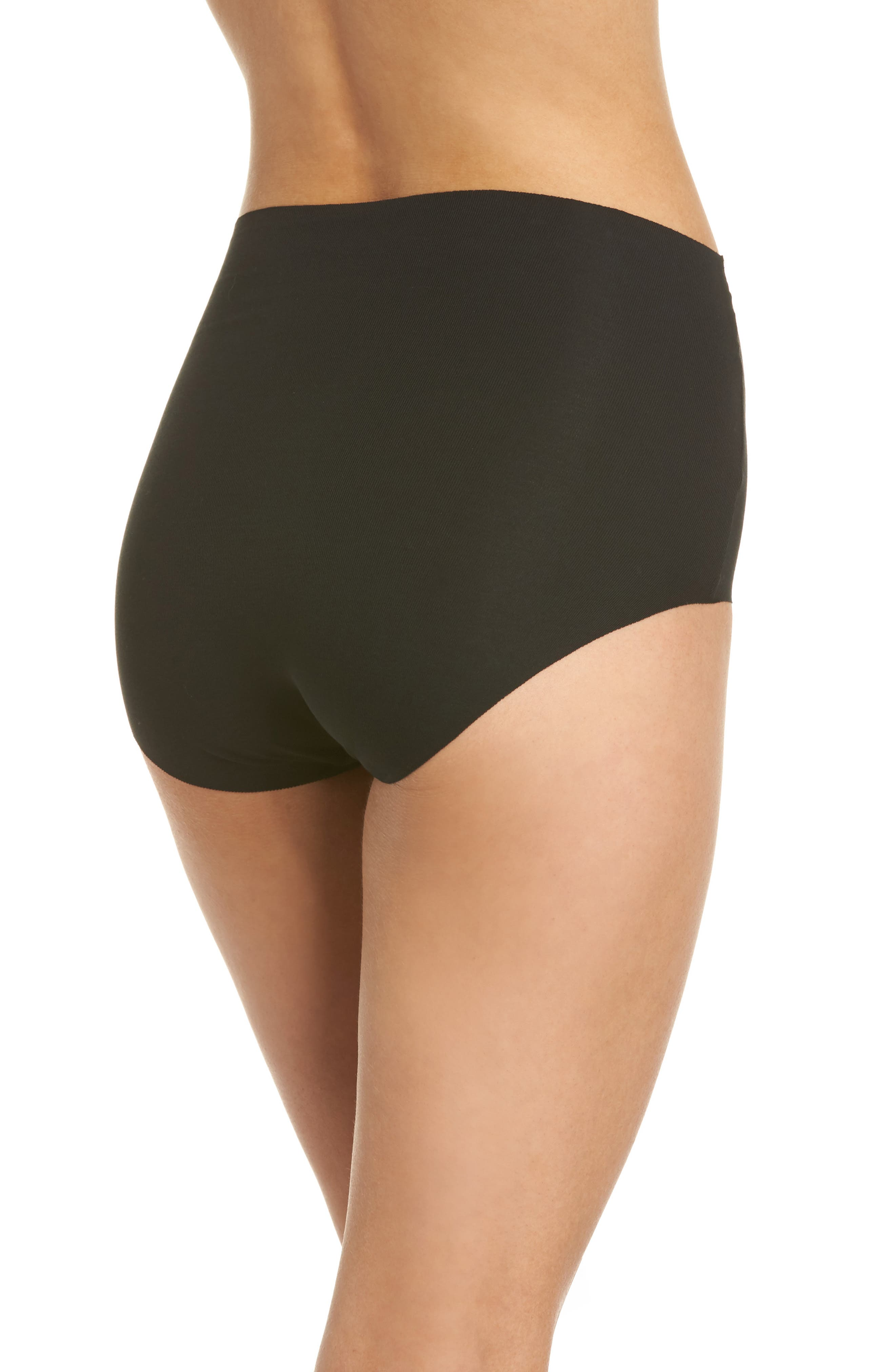 Beyond Naked High Waist Briefs,                             Alternate thumbnail 2, color,                             BLACK