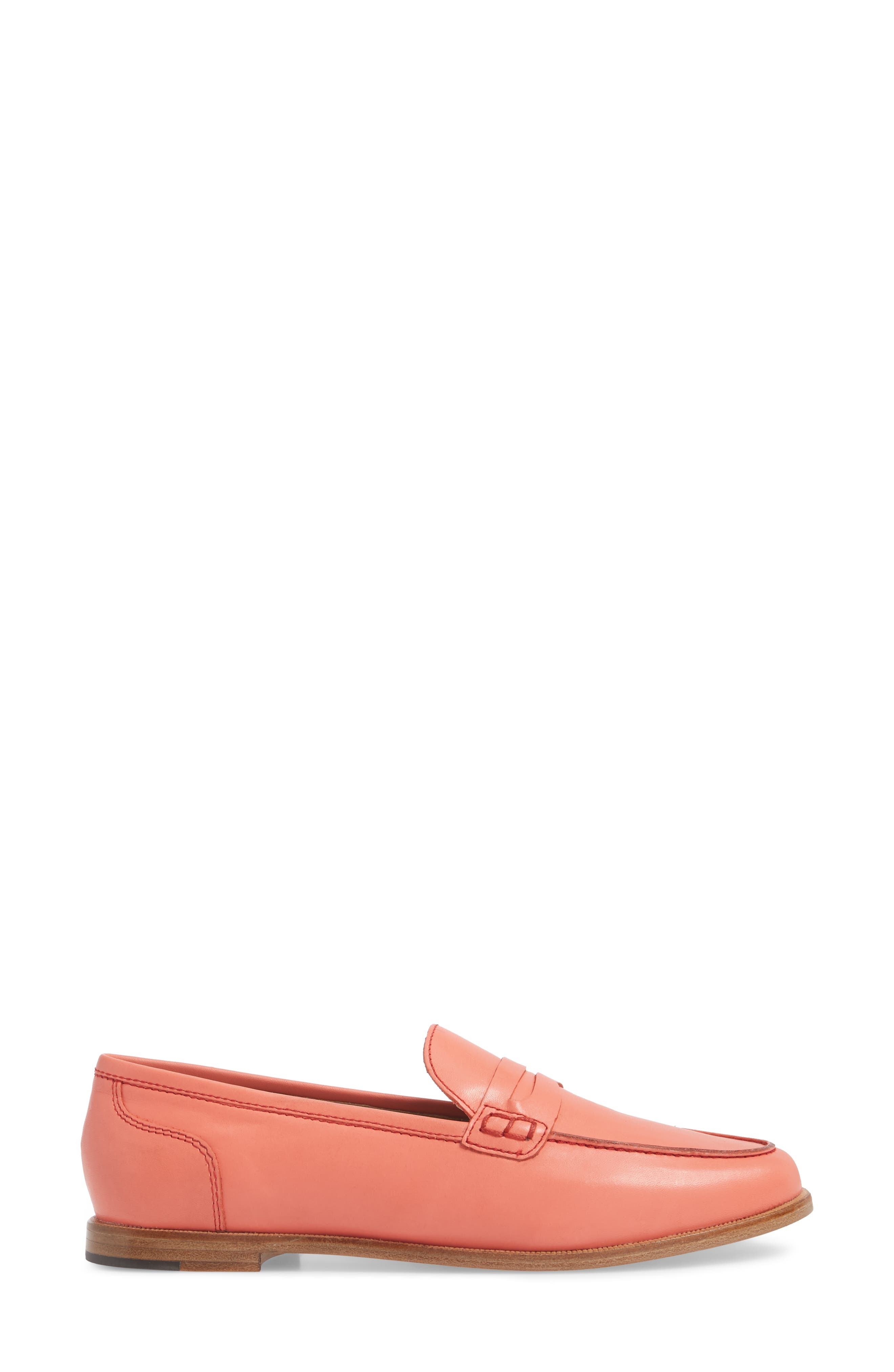 Ryan Penny Loafer,                             Alternate thumbnail 3, color,                             RUST LEATHER
