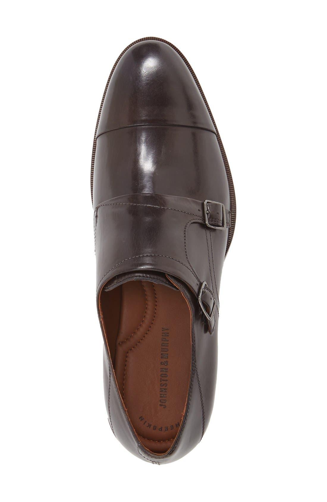 'Nolen' Double Monk Strap Shoe,                             Alternate thumbnail 3, color,                             020