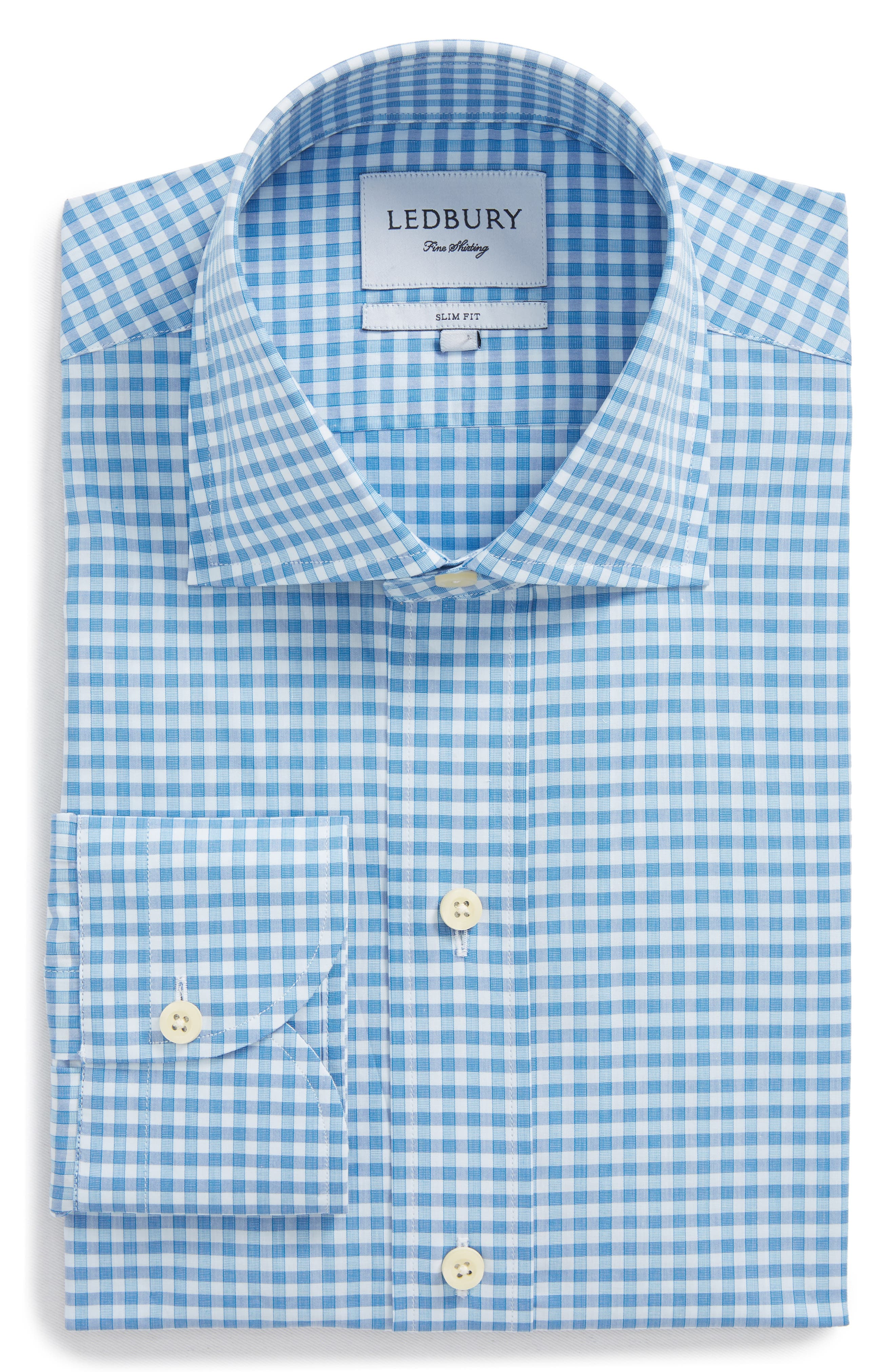 Prestwick Slim Fit Check Dress Shirt,                         Main,                         color, 423