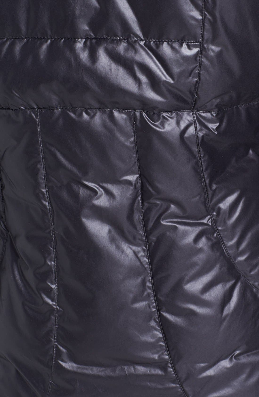 'Lisa' Hooded Down Coat,                             Alternate thumbnail 3, color,                             001
