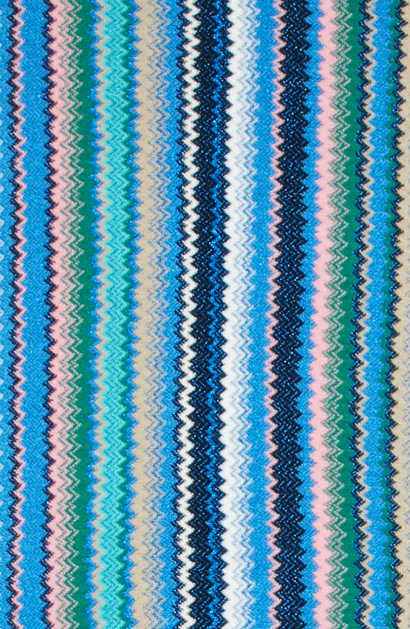 Zigzag Scarf,                             Alternate thumbnail 4, color,                             BLUE