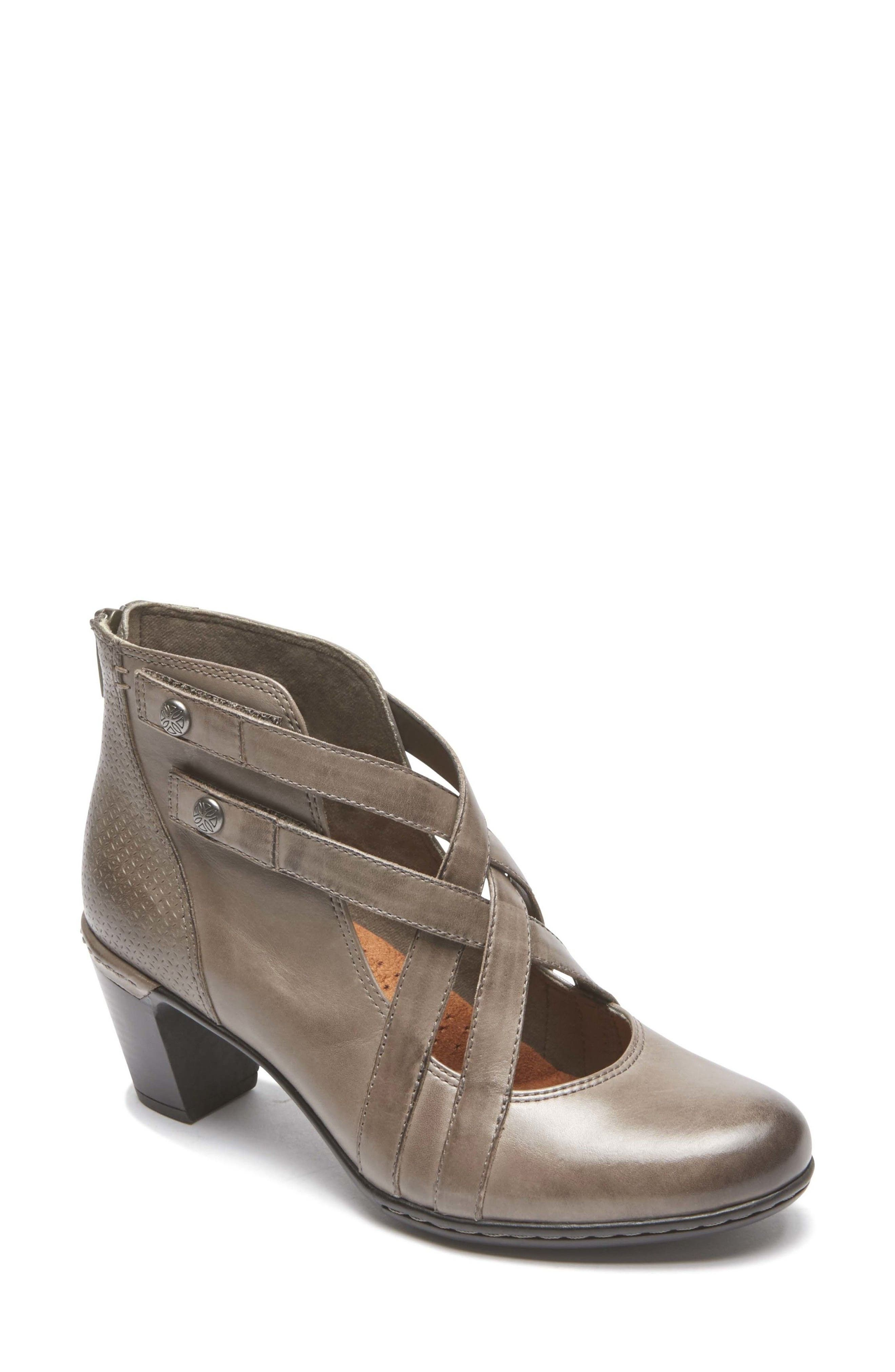 ROCKPORT COBB HILL,                             Rashel X-Strap Pump,                             Main thumbnail 1, color,                             STORMY GREY LEATHER