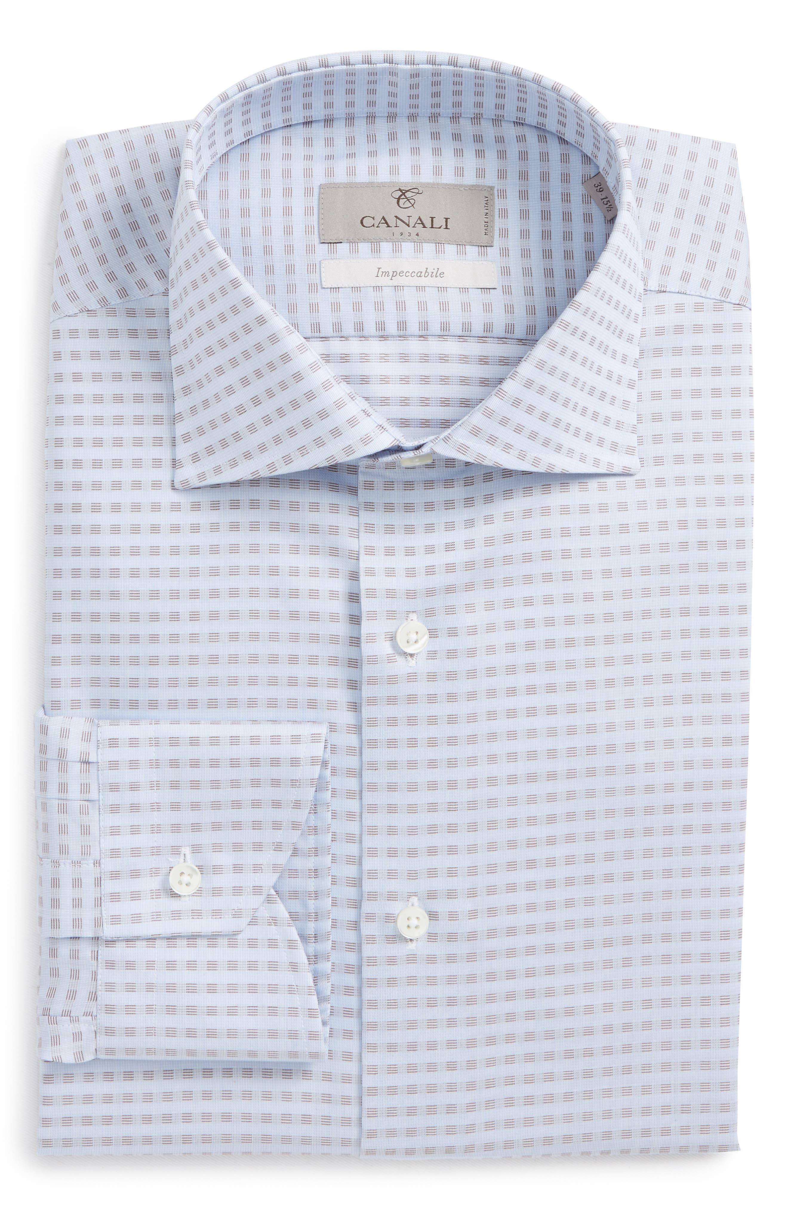 Regular Fit Grid Dress Shirt,                             Main thumbnail 1, color,                             400