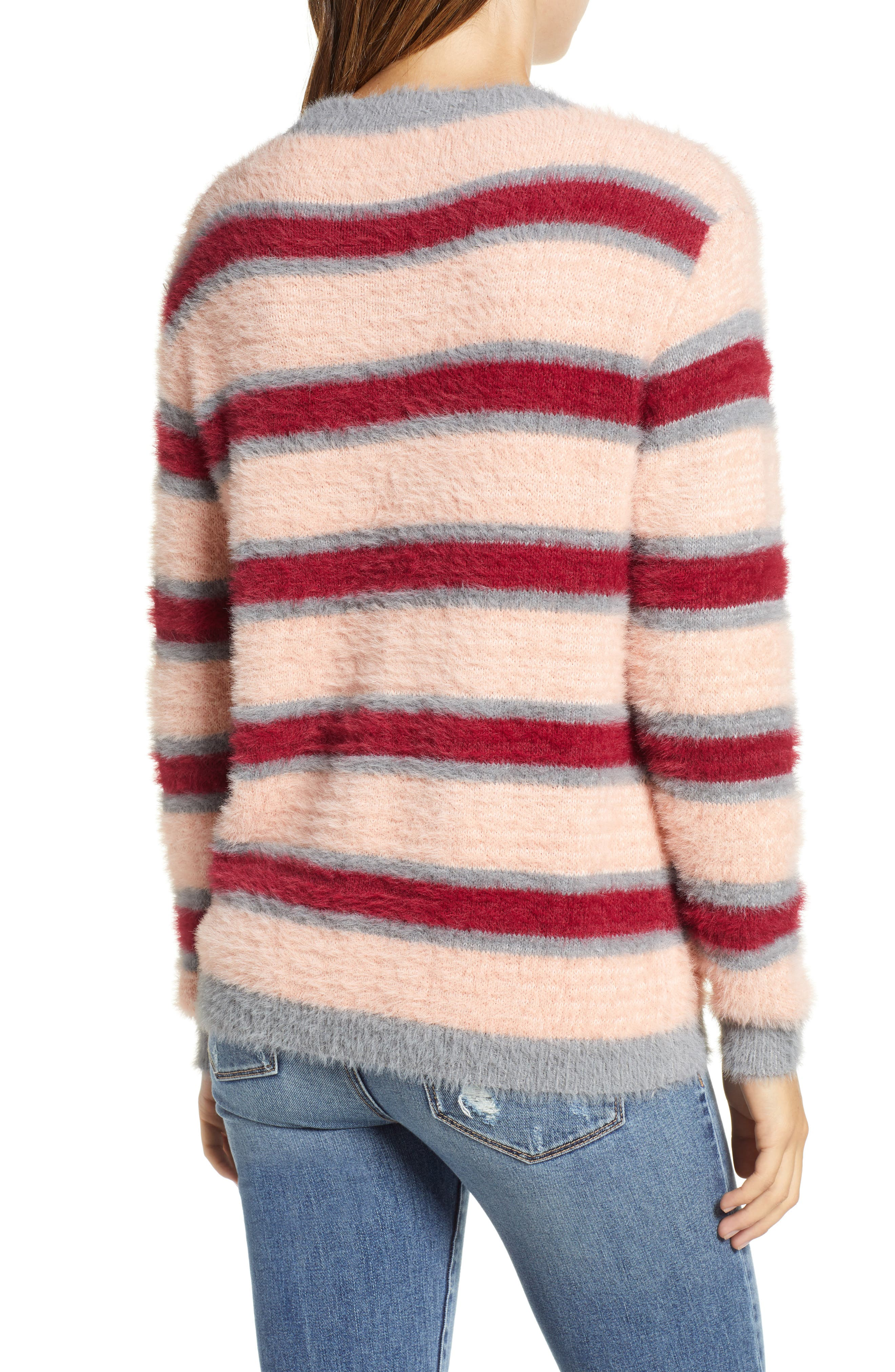 Stripe Eyelash Sweater,                             Alternate thumbnail 2, color,                             650