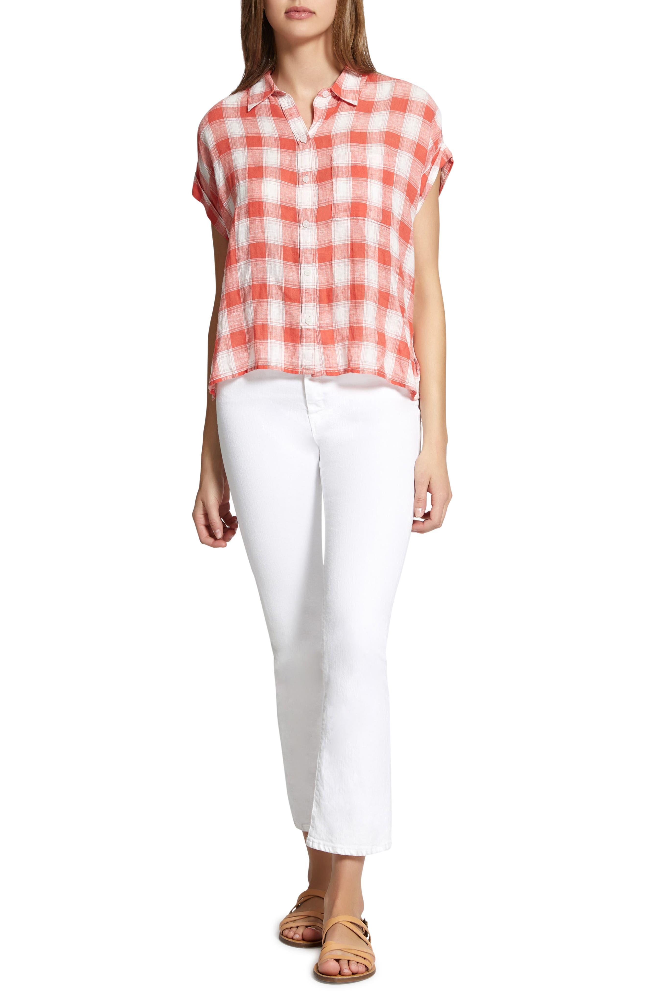Mod Short Sleeve Boyfriend Shirt,                             Alternate thumbnail 30, color,