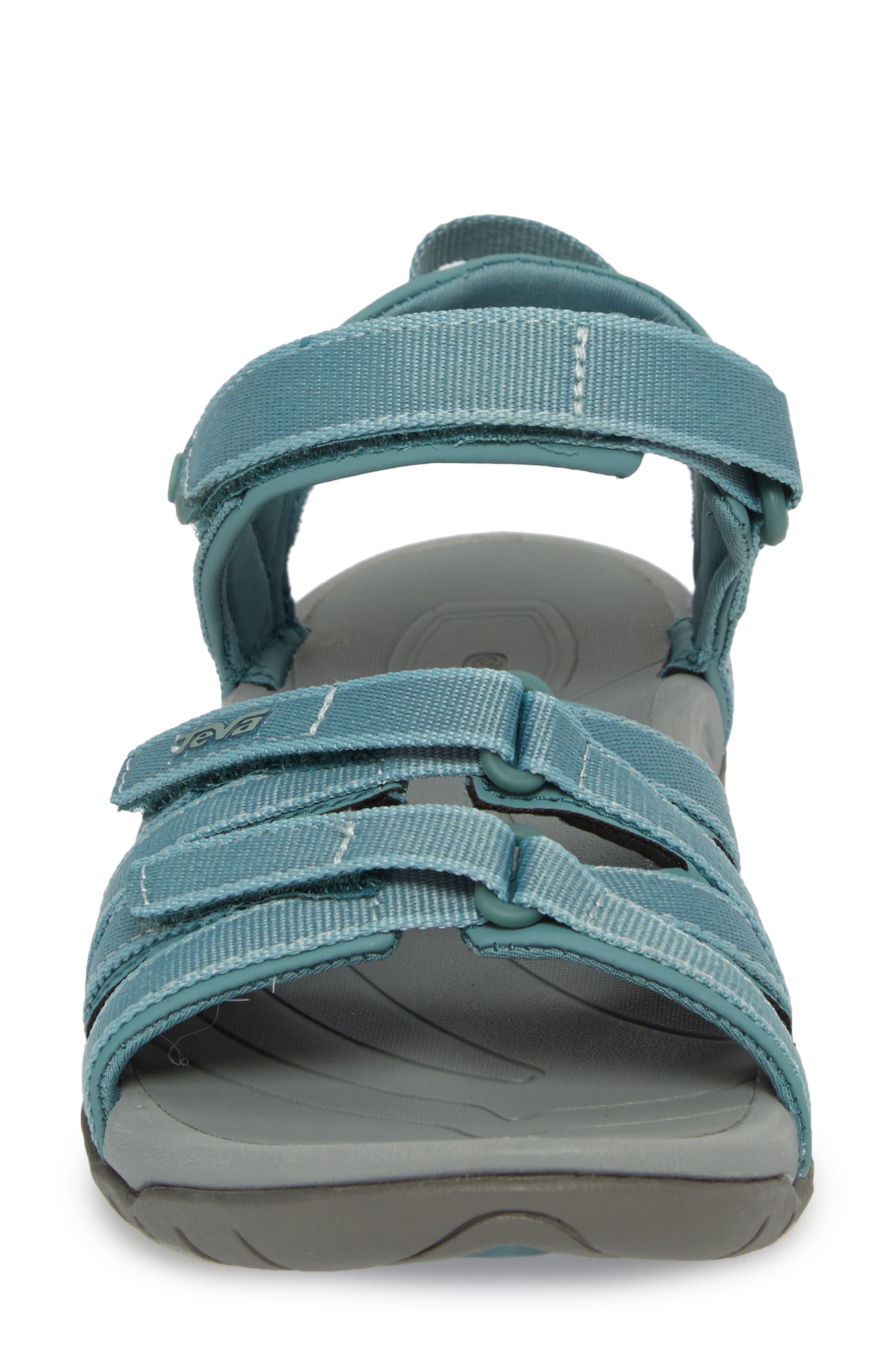 'Tirra' Sandal,                             Alternate thumbnail 4, color,                             NORTH ATLANTIC