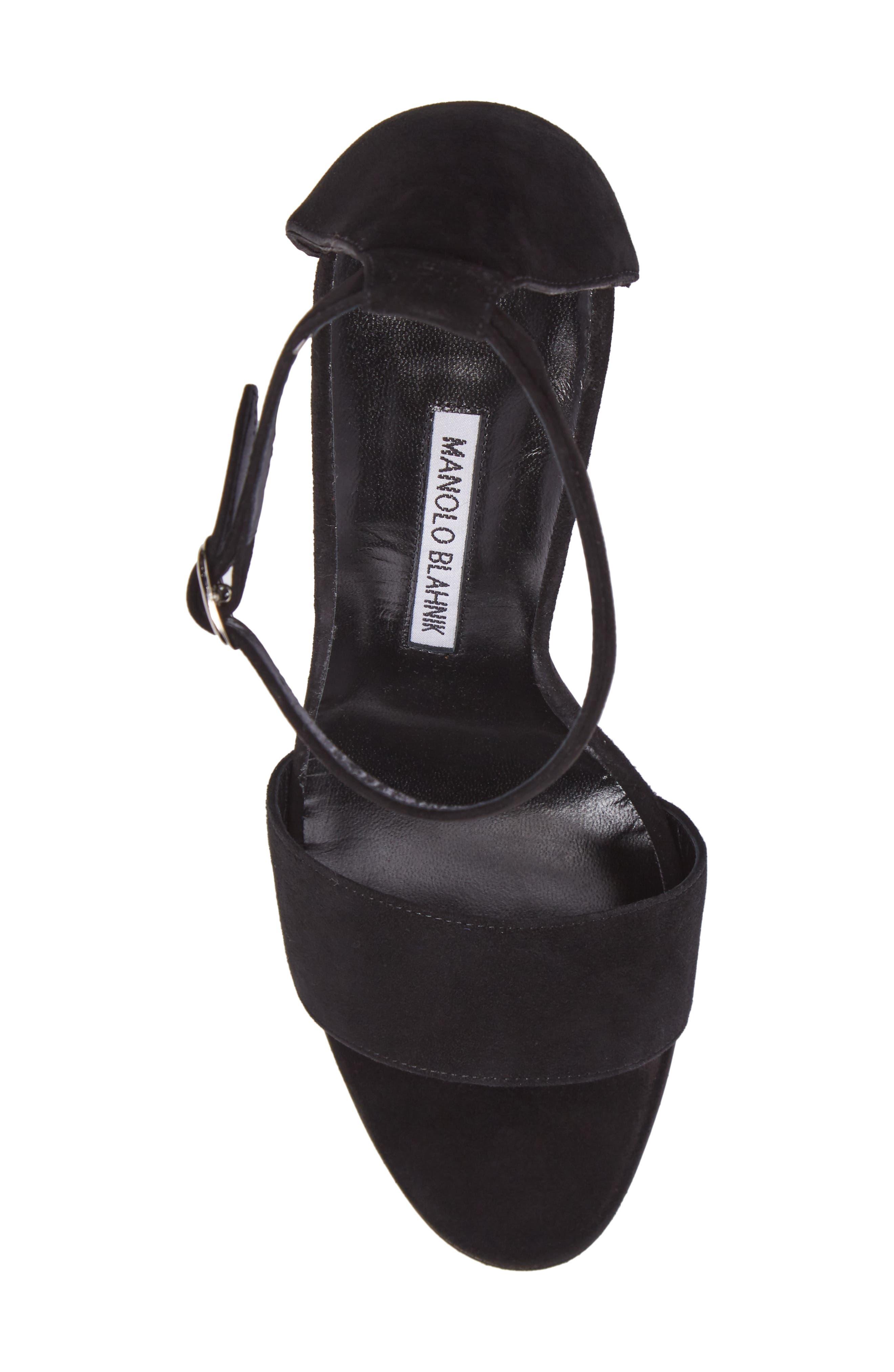 Tres Ankle Strap Sandal,                             Alternate thumbnail 5, color,                             002
