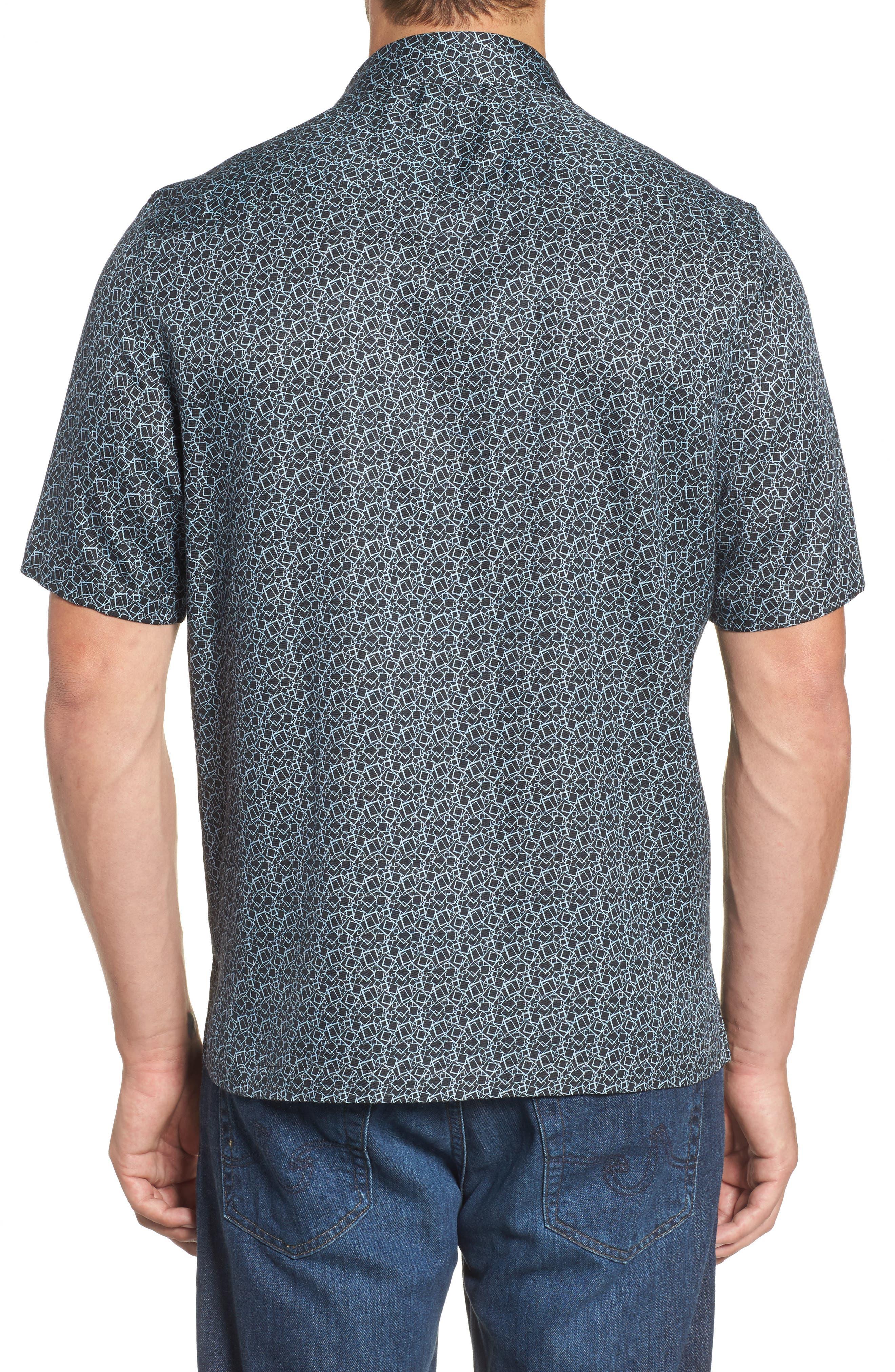 Blizzard Classic Fit Silk Blend Sport Shirt,                             Alternate thumbnail 2, color,                             001