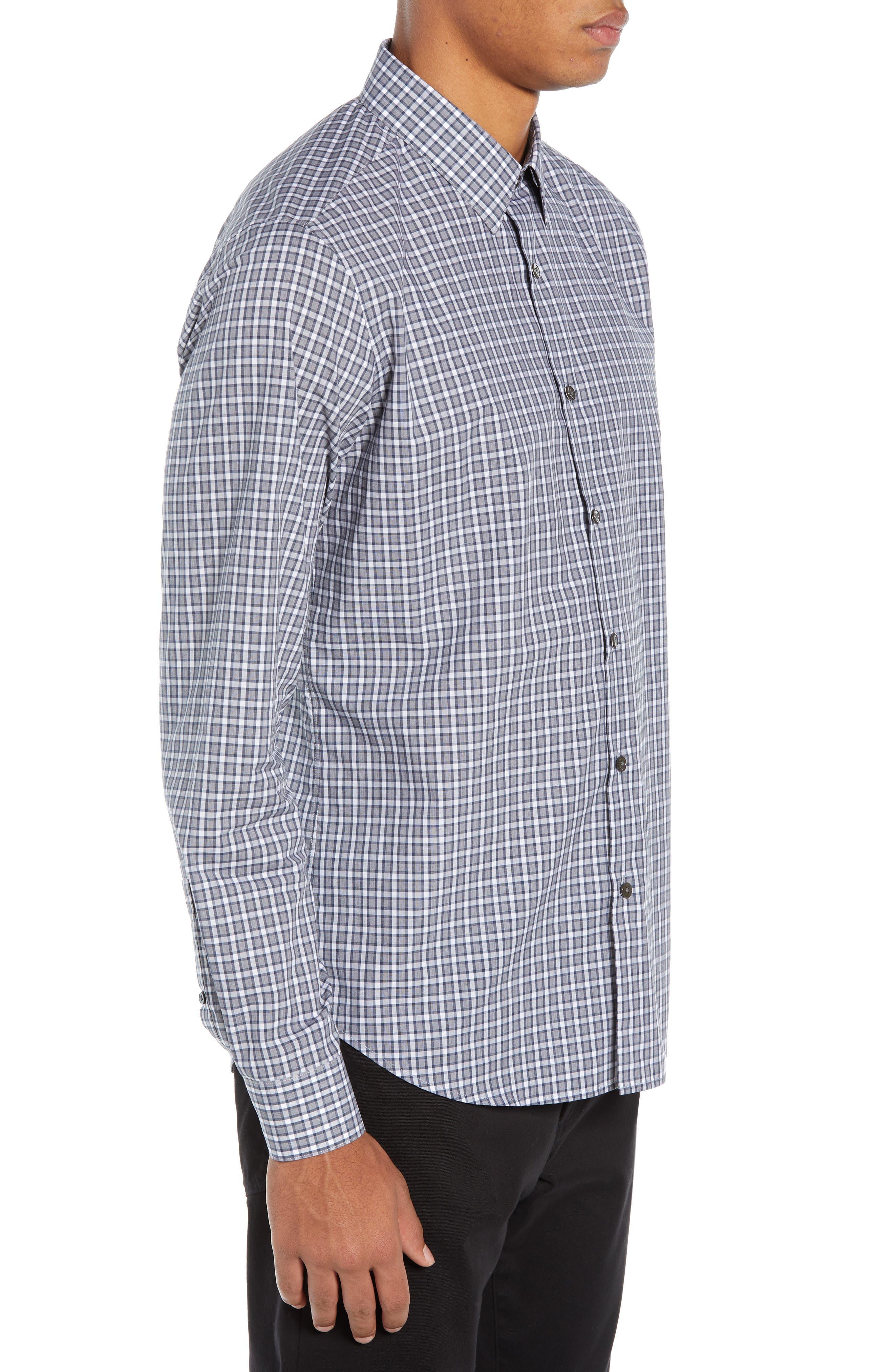 Sylvain Regular Fit Check Sport Shirt,                             Alternate thumbnail 4, color,                             NAVY MULTI