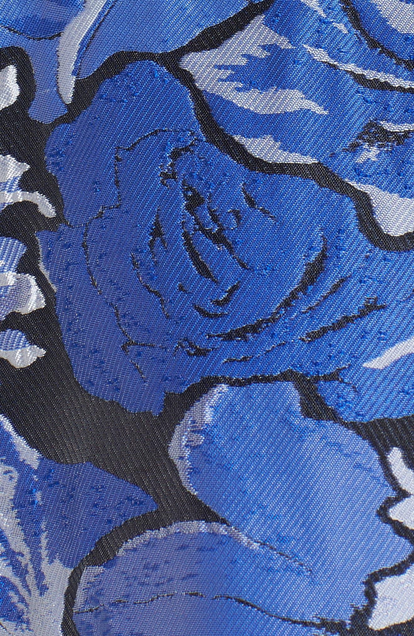 Jacquard Fit & Flare Dress,                             Alternate thumbnail 5, color,