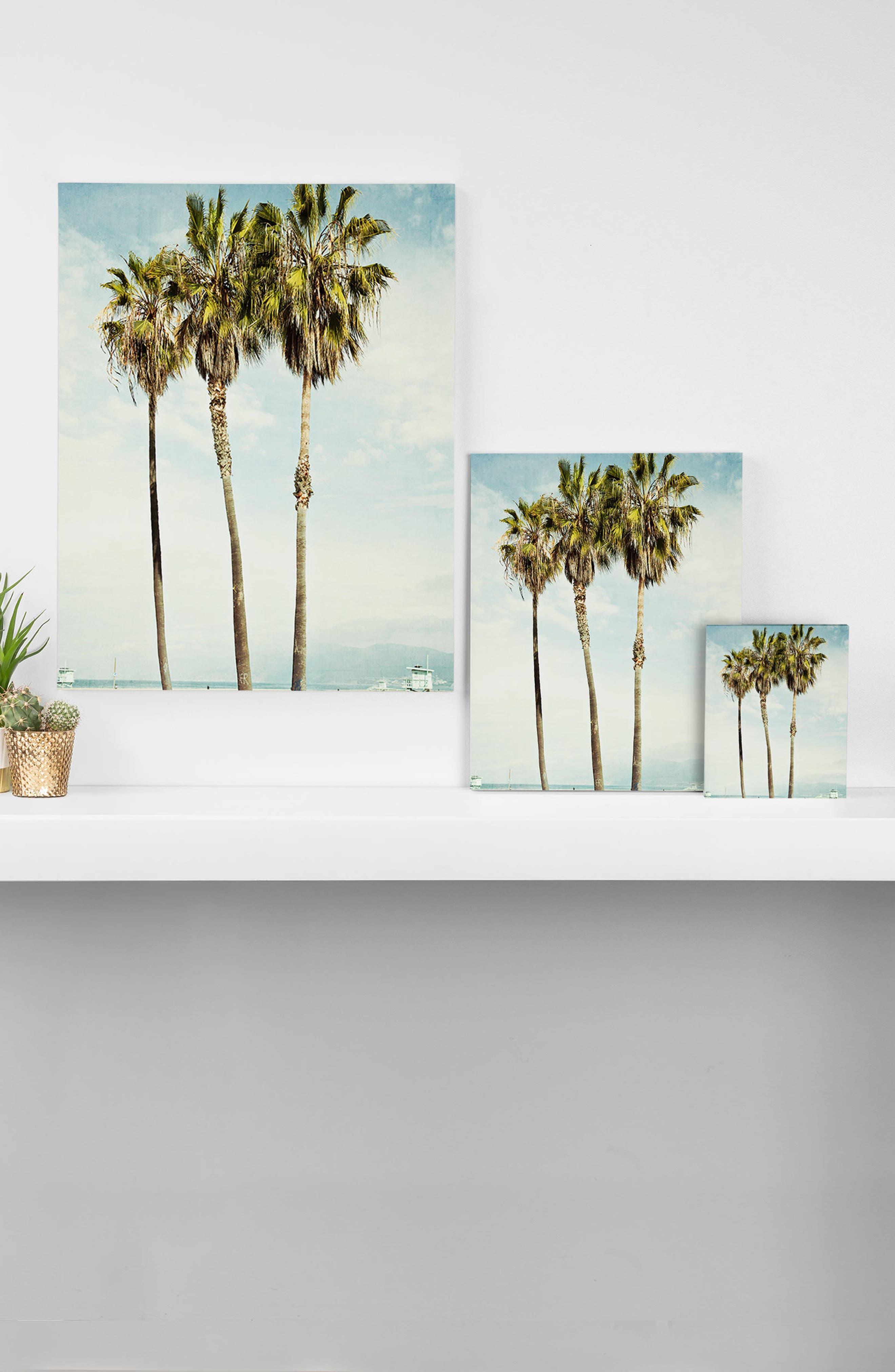 Venice Beach Palms Wall Art,                             Alternate thumbnail 2, color,