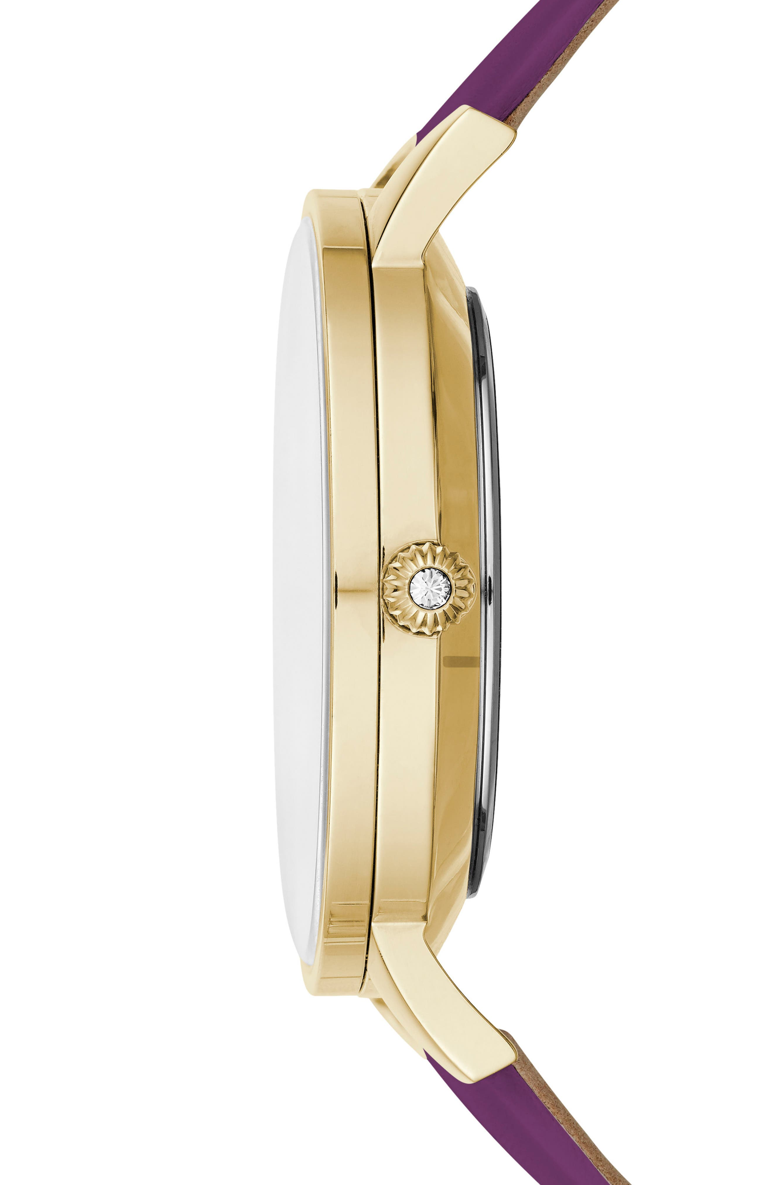 Kate Leather Strap Watch, 38mm,                             Alternate thumbnail 8, color,