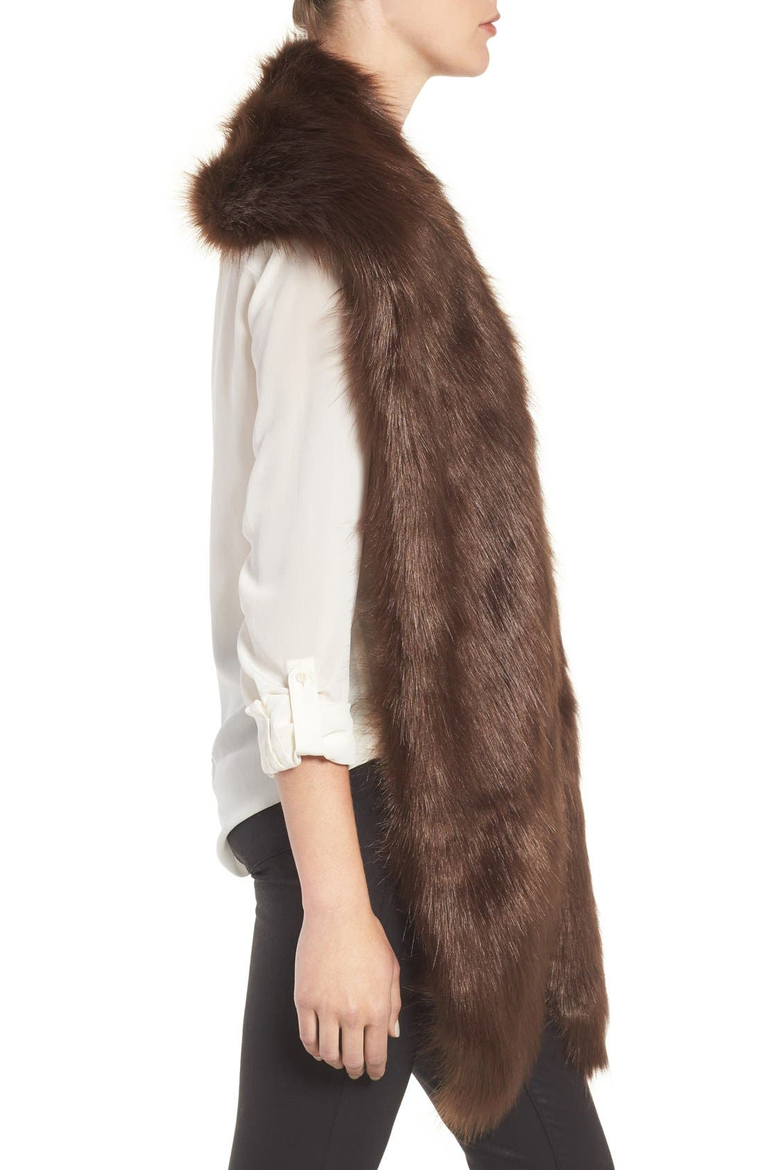 Faux Mink Stole,                             Alternate thumbnail 13, color,