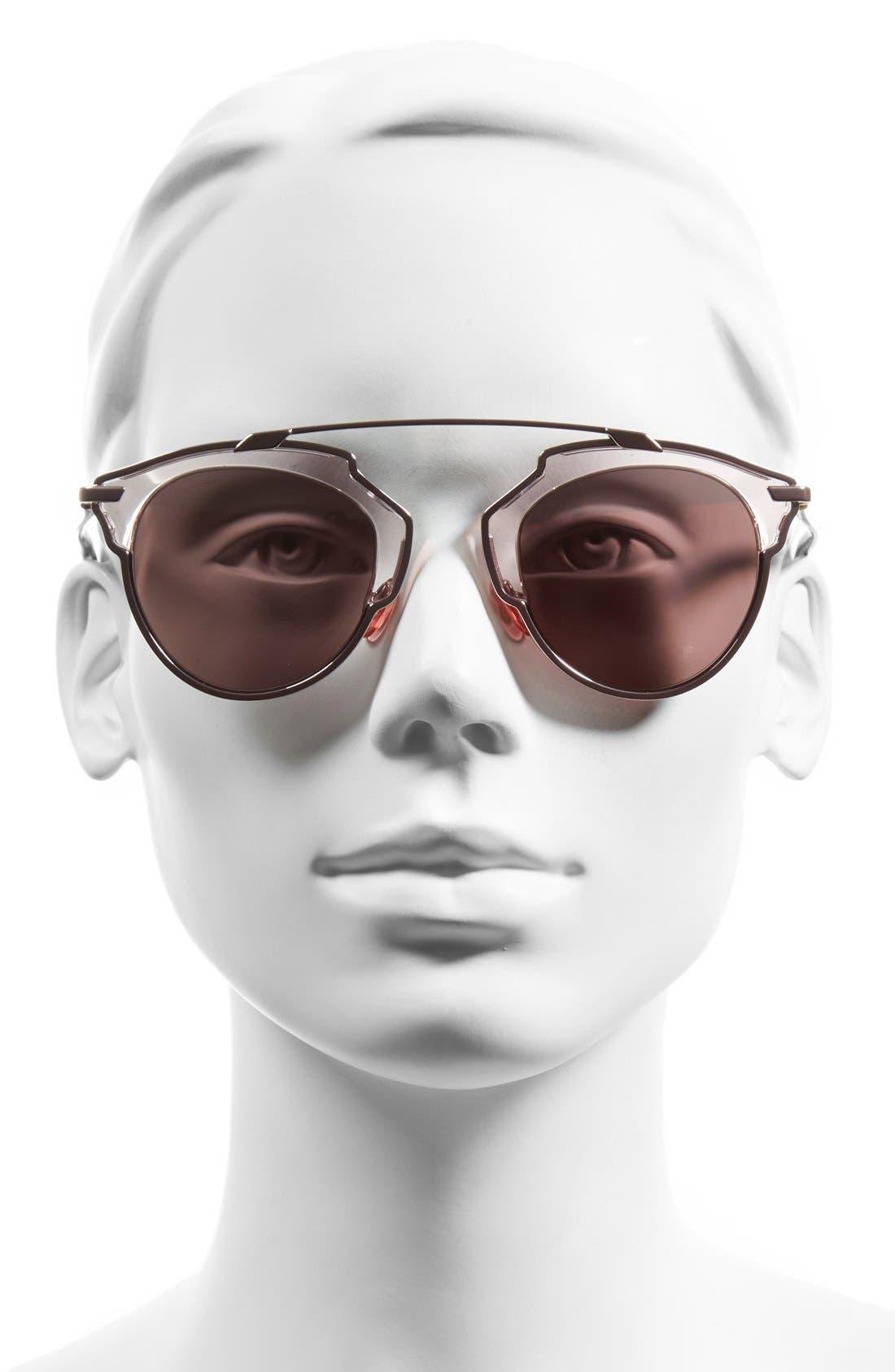 So Real 48mm Brow Bar Sunglasses,                             Alternate thumbnail 46, color,