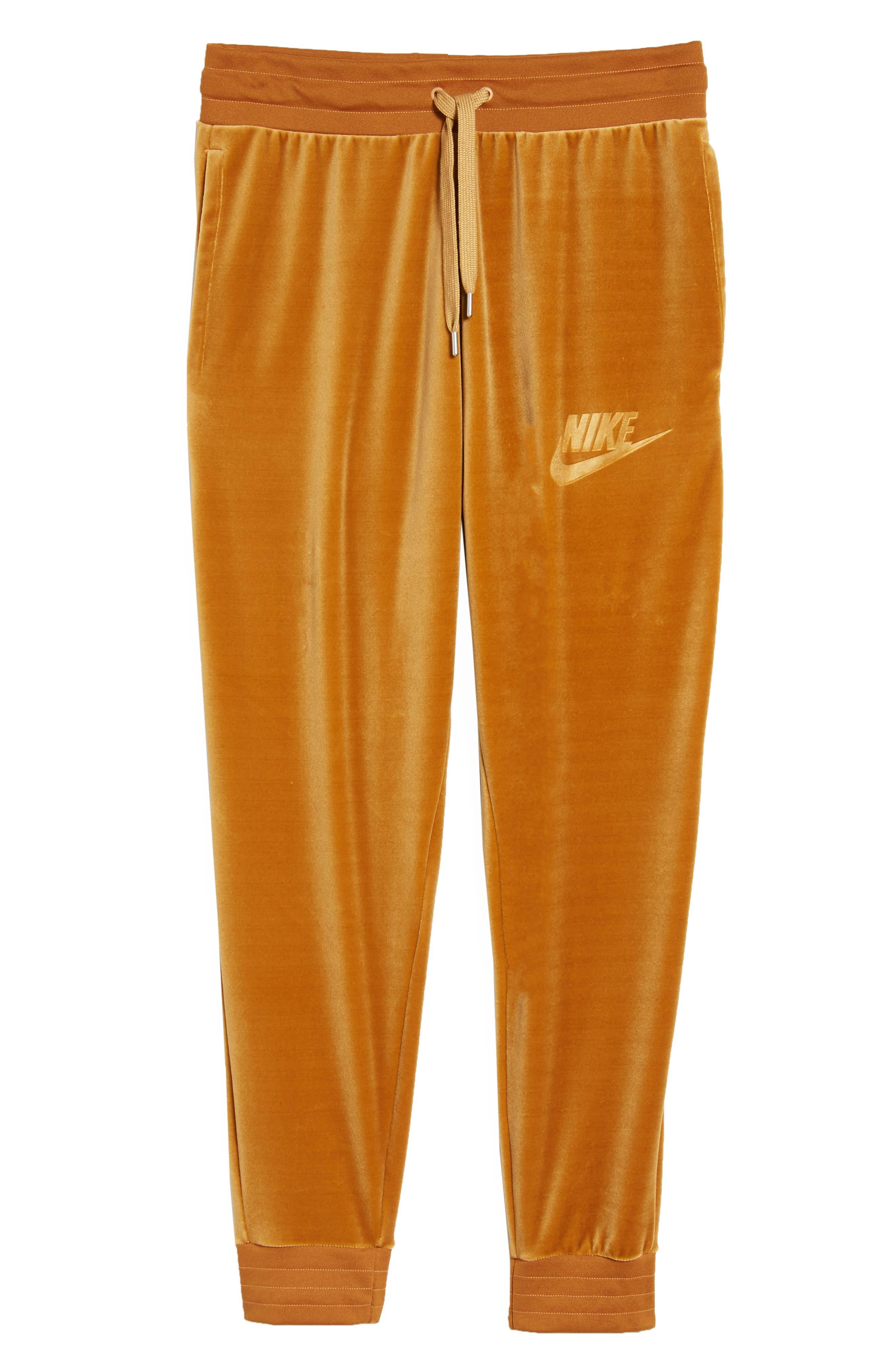NIKE,                             Plush Velvet Jogger Pants,                             Alternate thumbnail 6, color,                             042