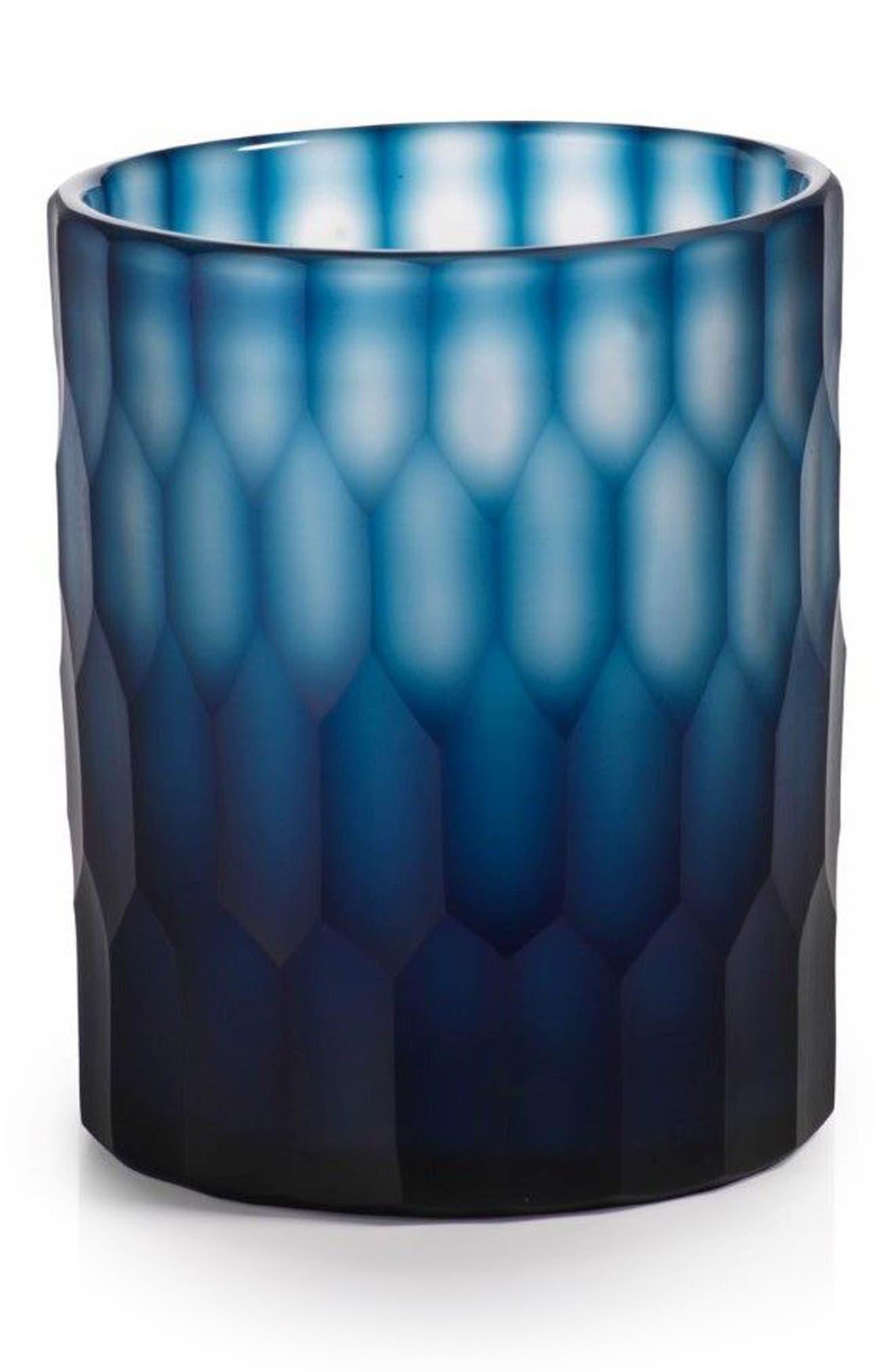 Neela Glass Candleholder,                             Main thumbnail 1, color,                             400