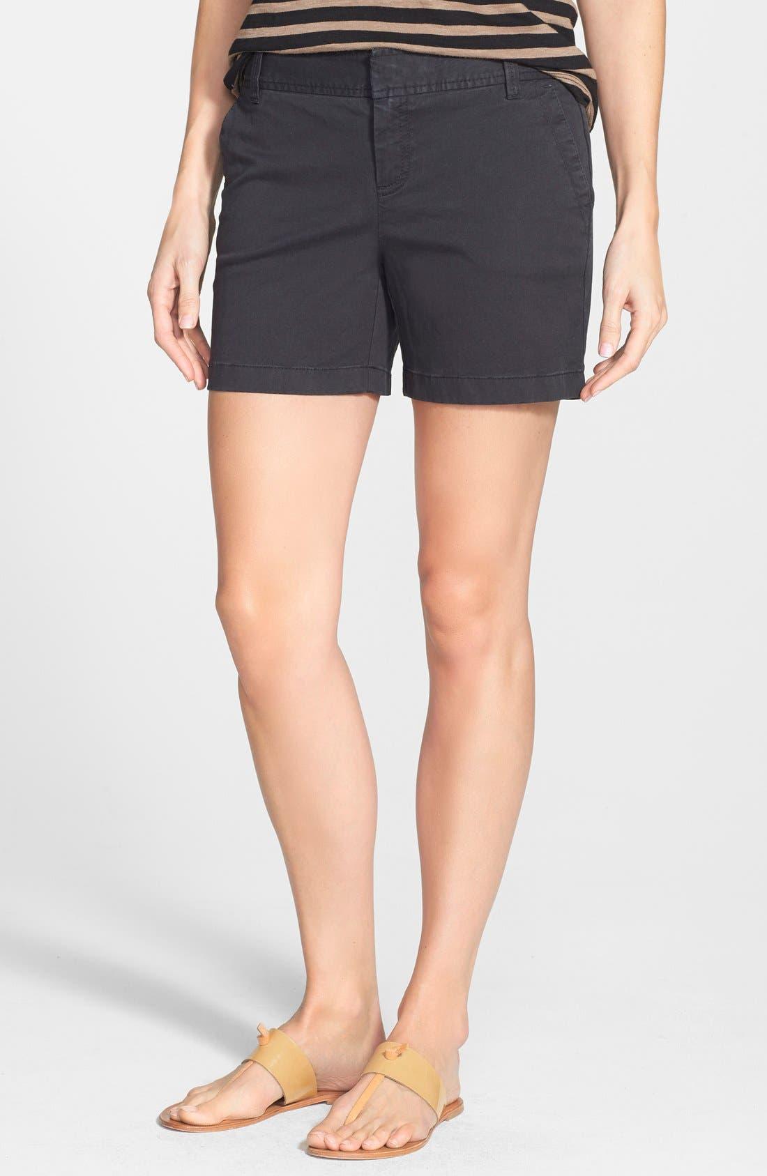 Clean Front Shorts,                             Main thumbnail 1, color,                             001