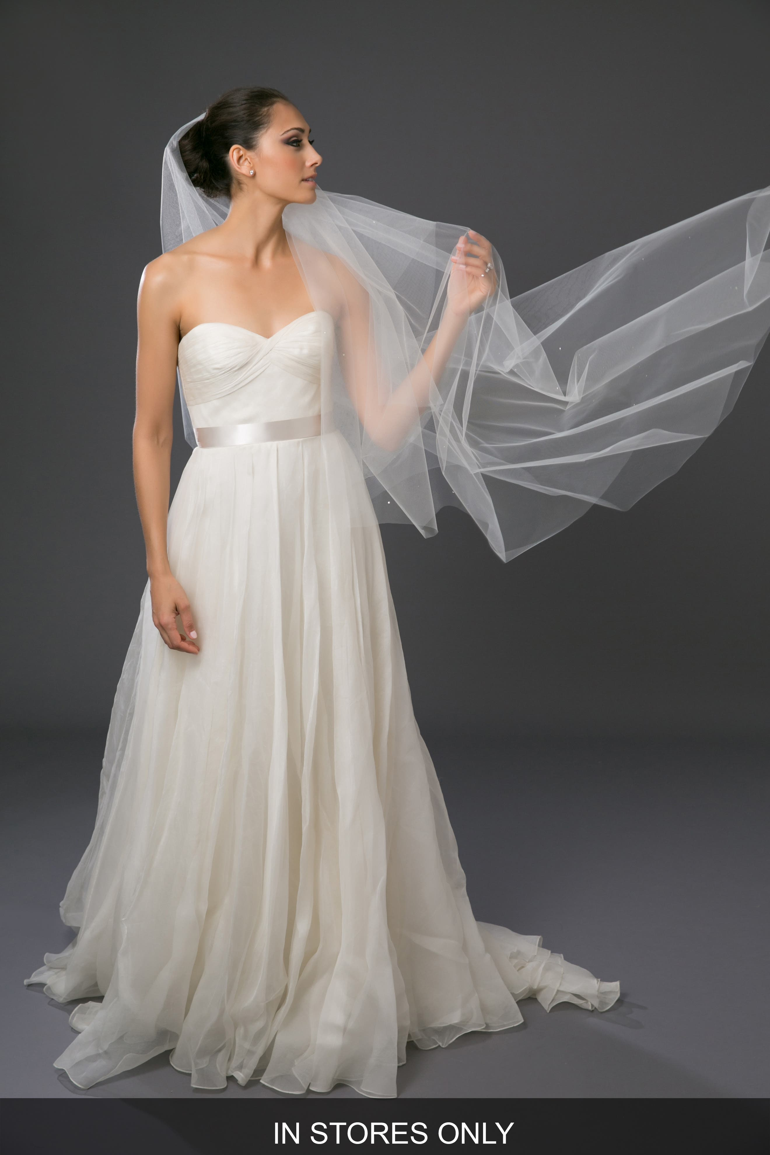 'Chakra' Circle Cut Waltz Length Veil,                             Alternate thumbnail 7, color,                             LIGHT IVORY