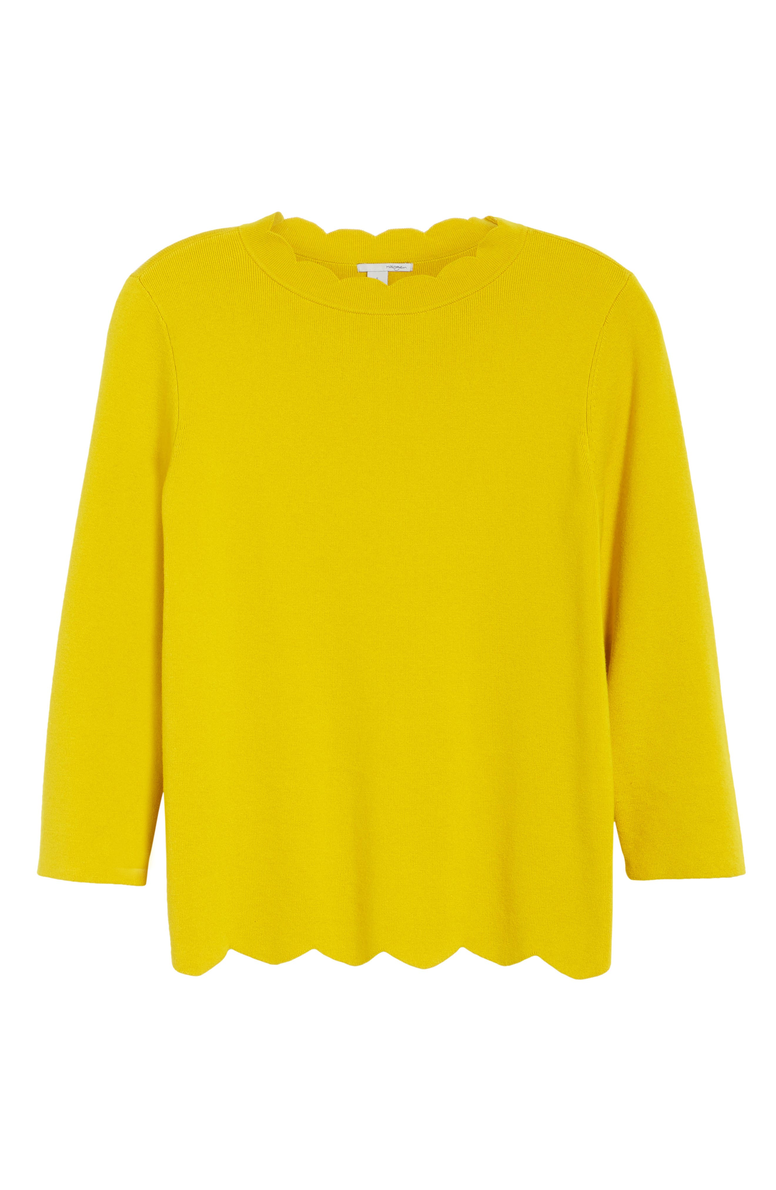 Halogen Scallop Edge Sweater,                             Alternate thumbnail 65, color,