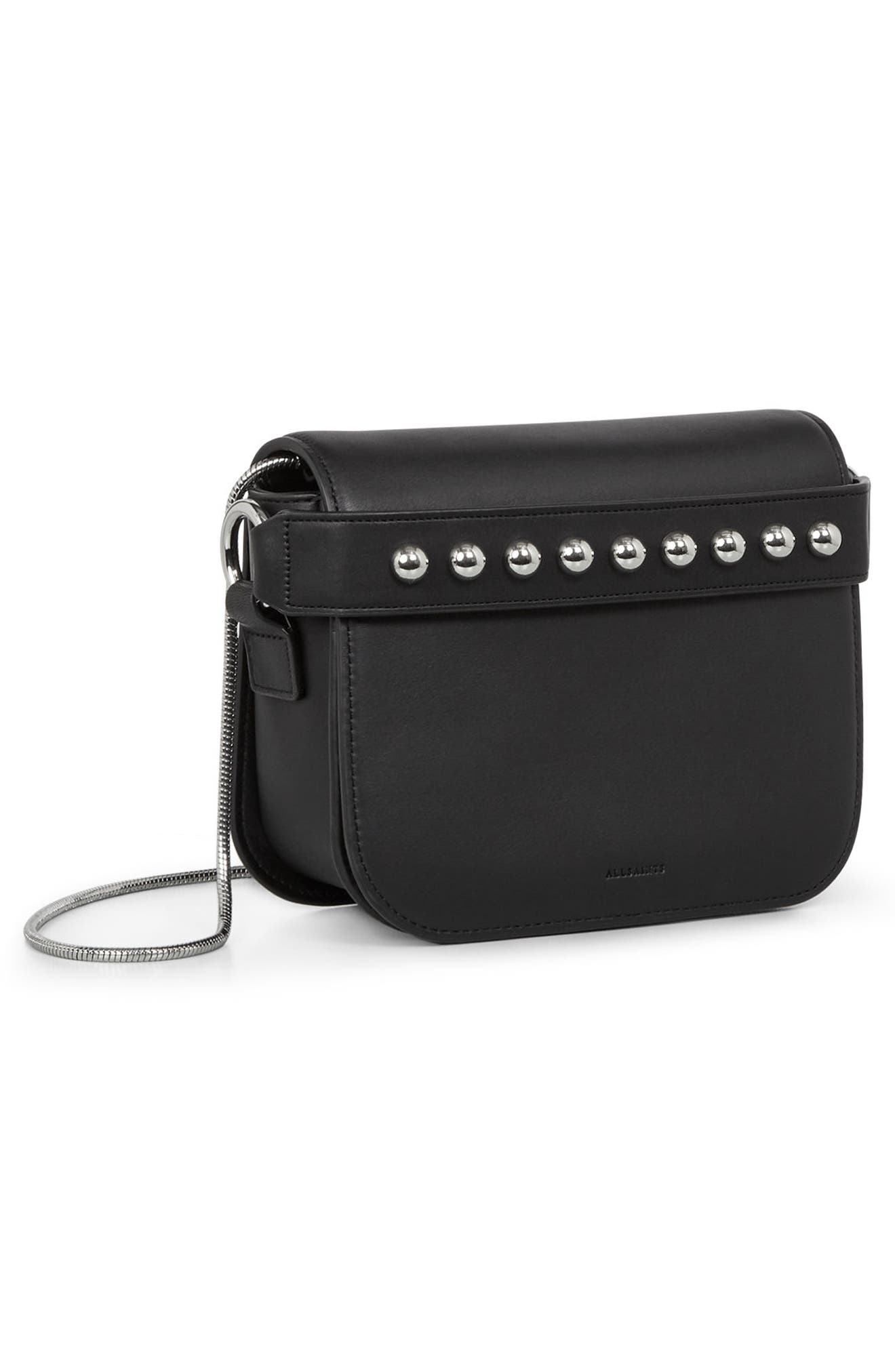 Suzi Studded Leather Clutch,                             Alternate thumbnail 15, color,