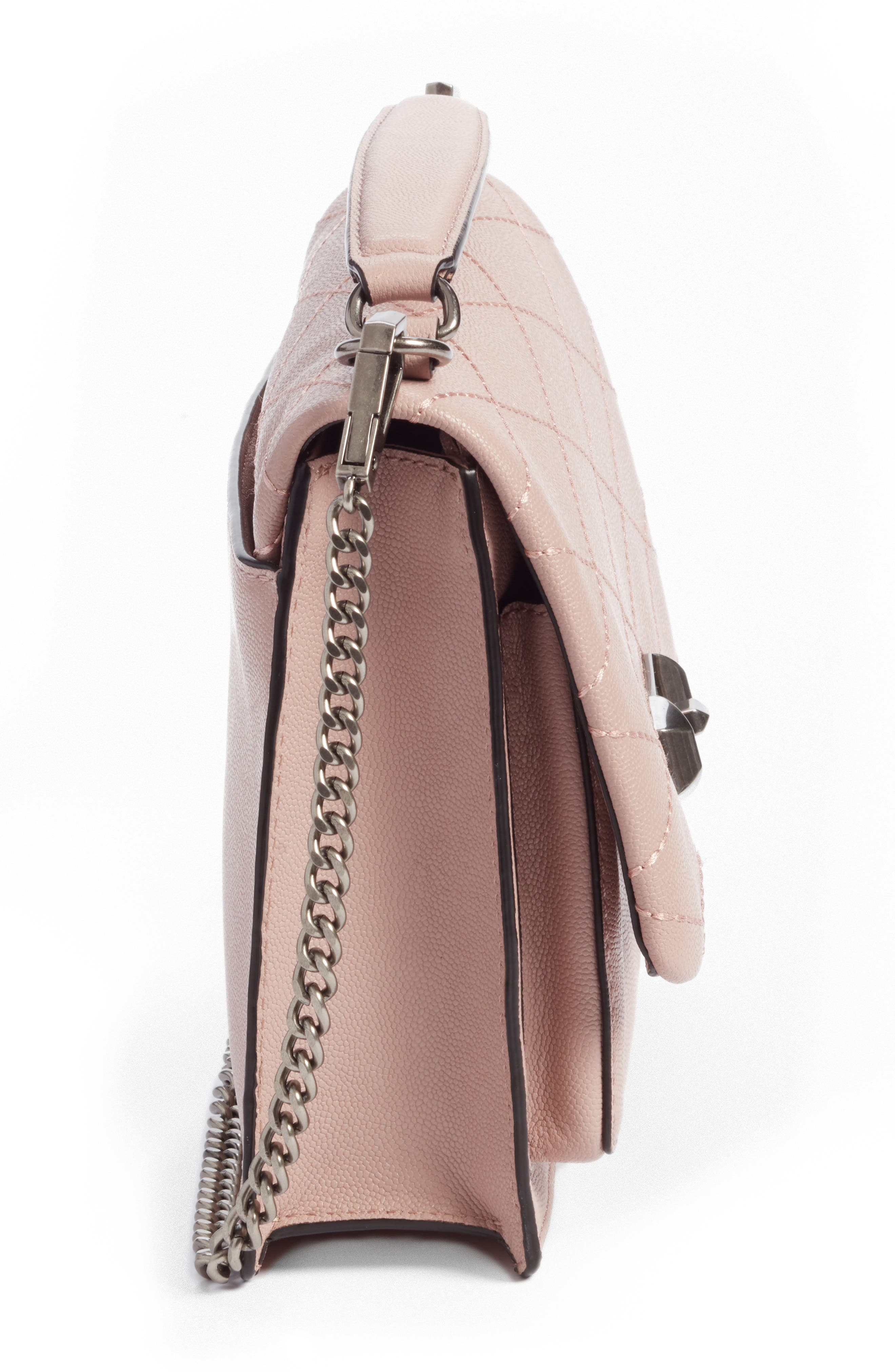 Medium Je T'aime Convertible Leather Crossbody Bag,                             Alternate thumbnail 48, color,