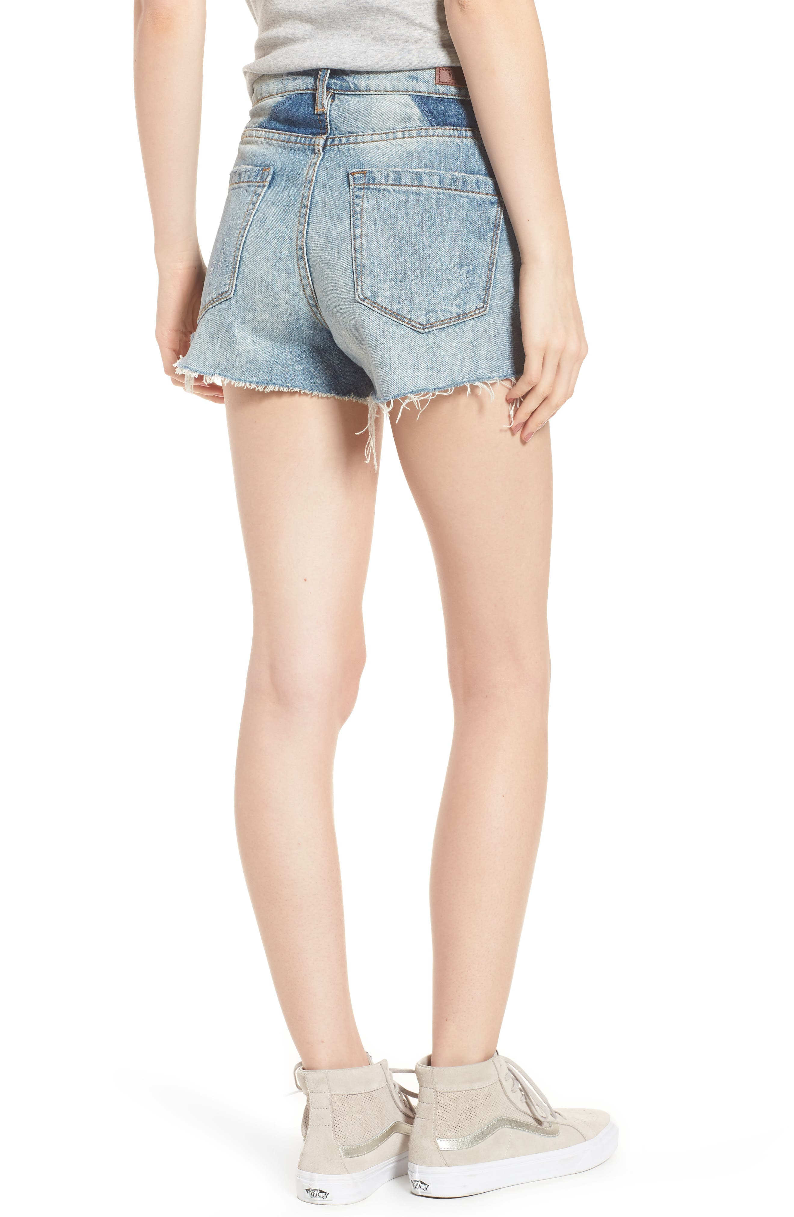 Panic Prevention Ripped Cutoff Denim Shorts,                             Alternate thumbnail 2, color,                             400