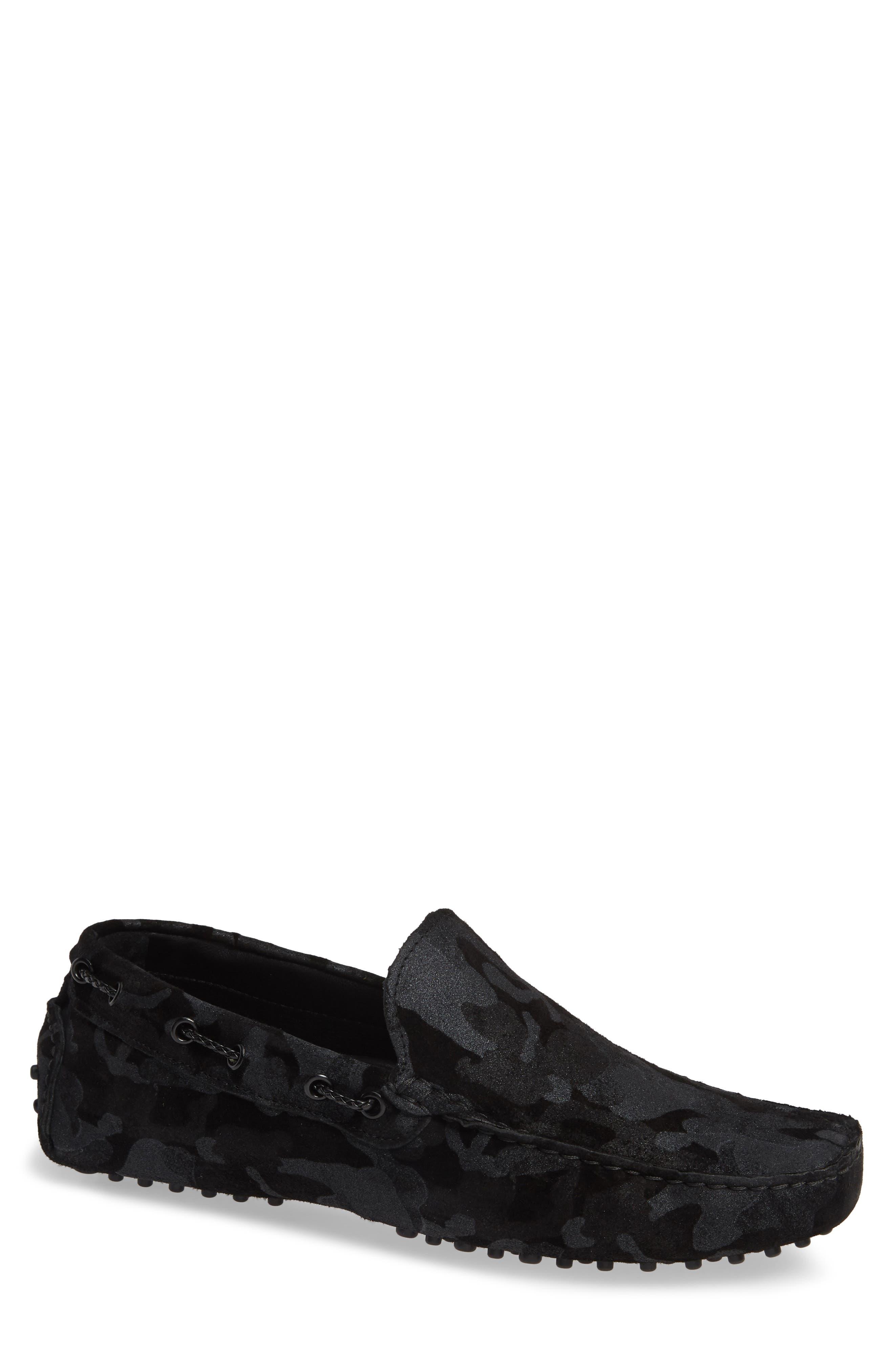 Venice Driving Shoe,                         Main,                         color, BLACK CAMO