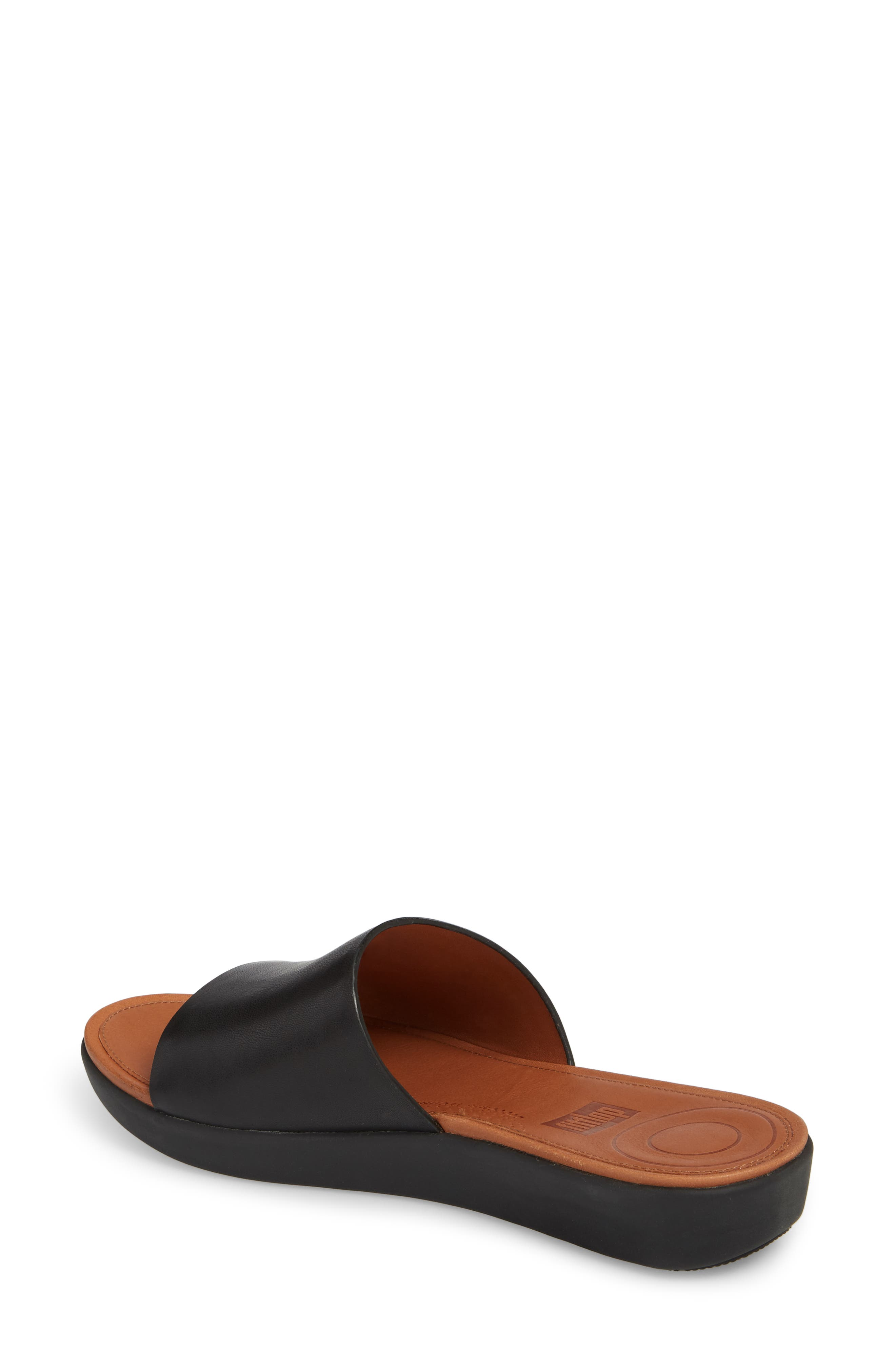 Sola Sandal,                             Alternate thumbnail 2, color,                             BLACK LEATHER